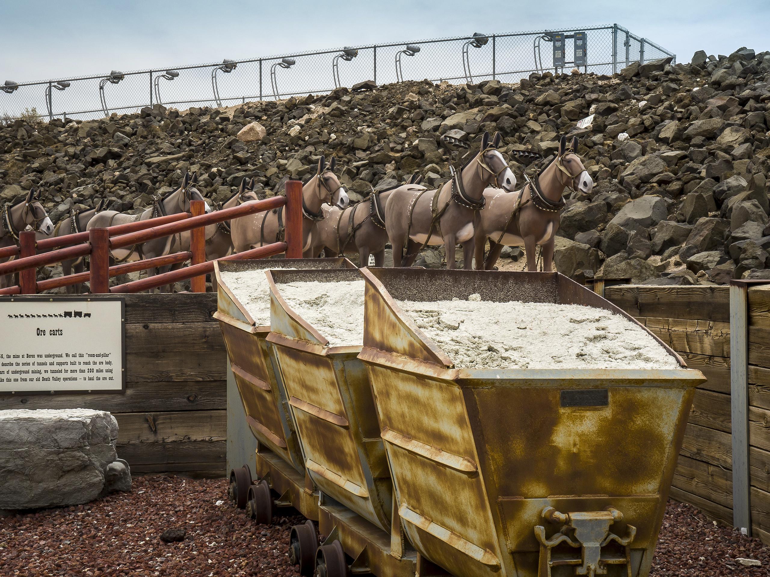 Twenty Mule Team scale replica, Borax Visitor Center, Boron,                               CA 2014