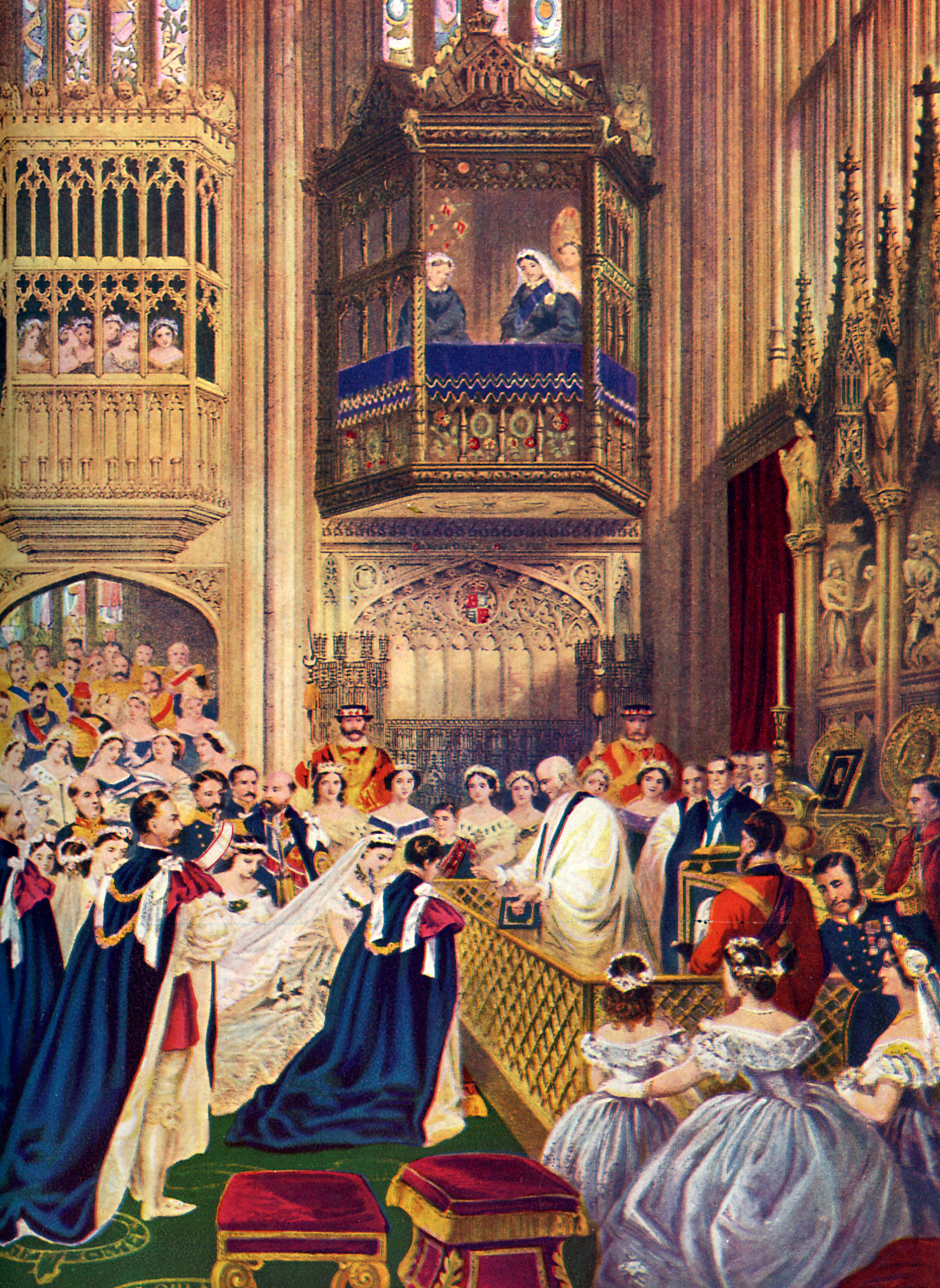 The Prince of Wales marriage to Alexandra of Denmark at St. George 's Chapel, Windsor on March 10, 1863.