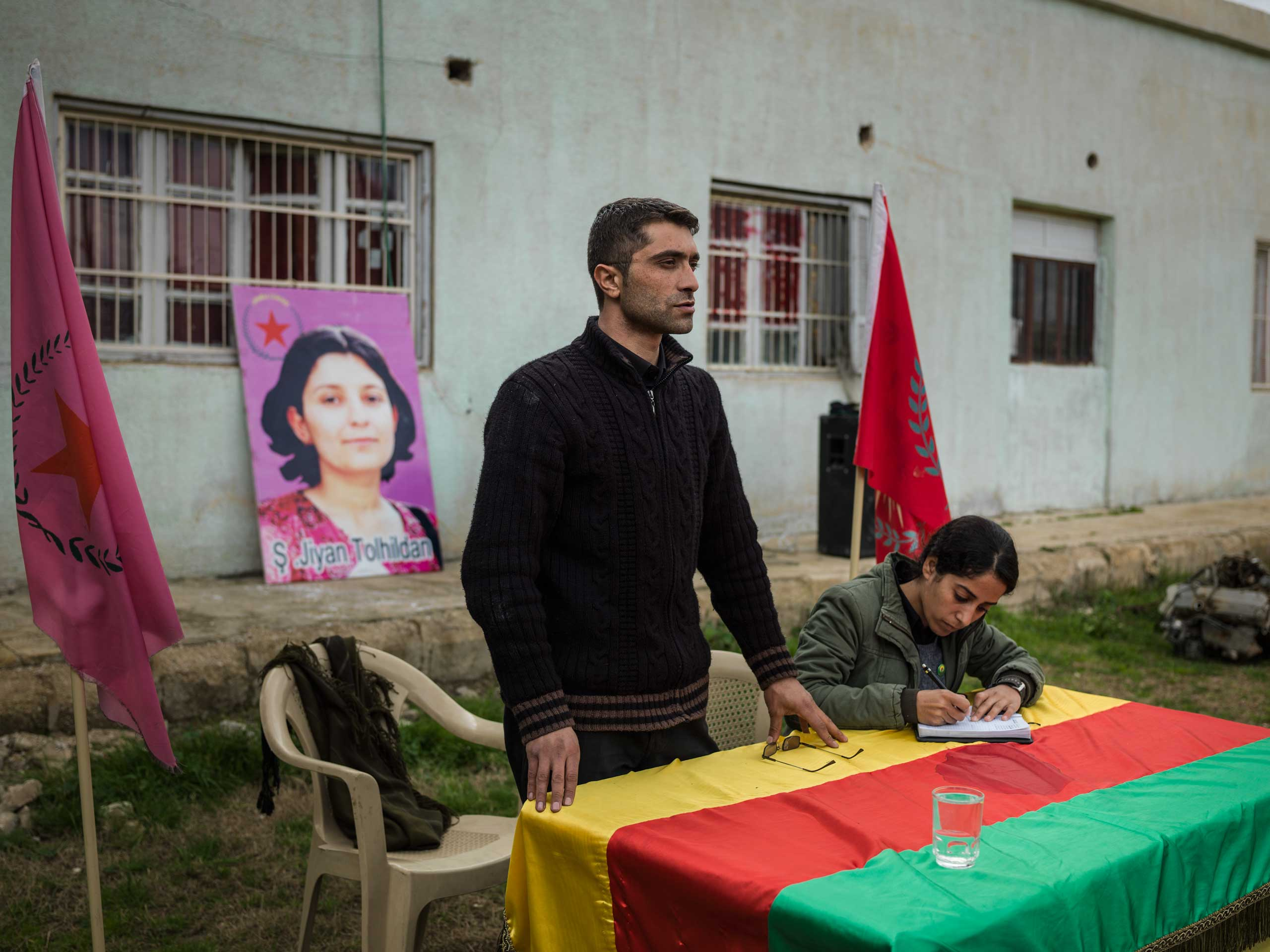In Western Kurdistan, the Syrian autonomous region Kurds call Rojava, young people are taught the ideology of the PYD (the Democratic Union Party of Syria), an affiliate of PKK (Kurdistan Workers' Party). Many of these young people will soon be drafted into YPJ and YPG armies to fight ISIS.