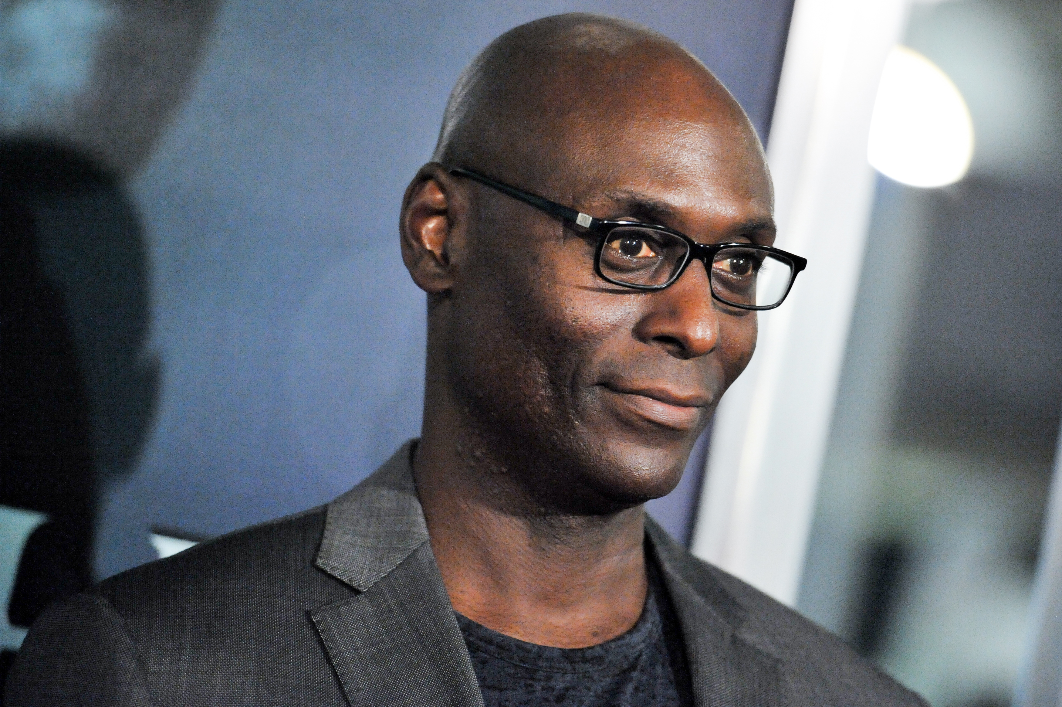 Lance Reddick arrives at the LA Special Screening Of  John Wick  on Oct. 22, 2014, in Los Angeles.