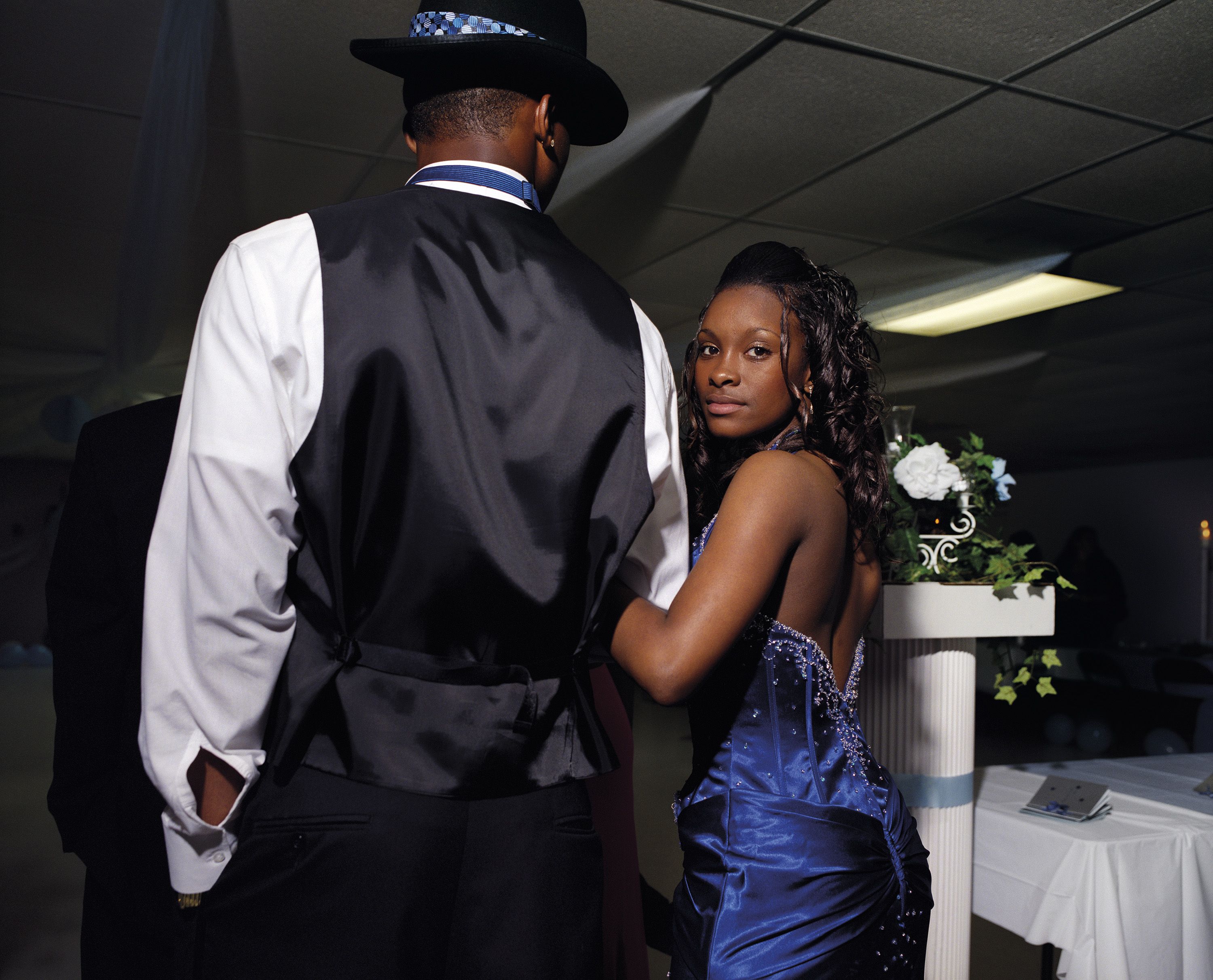 Keyke and Terrance entering the black prom, 2008
