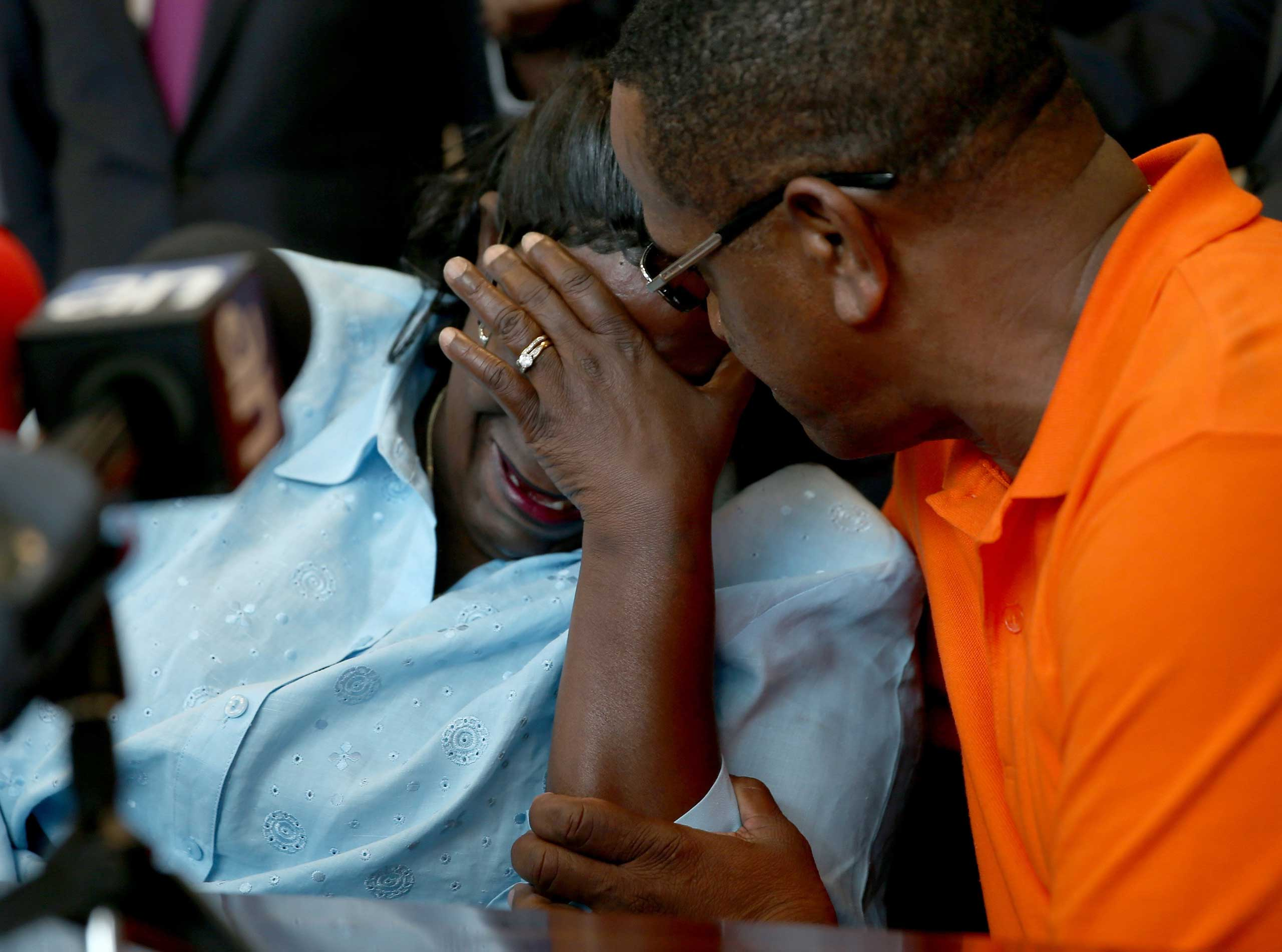 Catherine Daniels, the mother of Lavall Hall, 25, who was shot and killed by Miami Gardens police on Feb. 15, 2015,