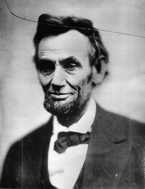 Portrait of Abraham Lincoln taken on the day of his inauguration in 1861