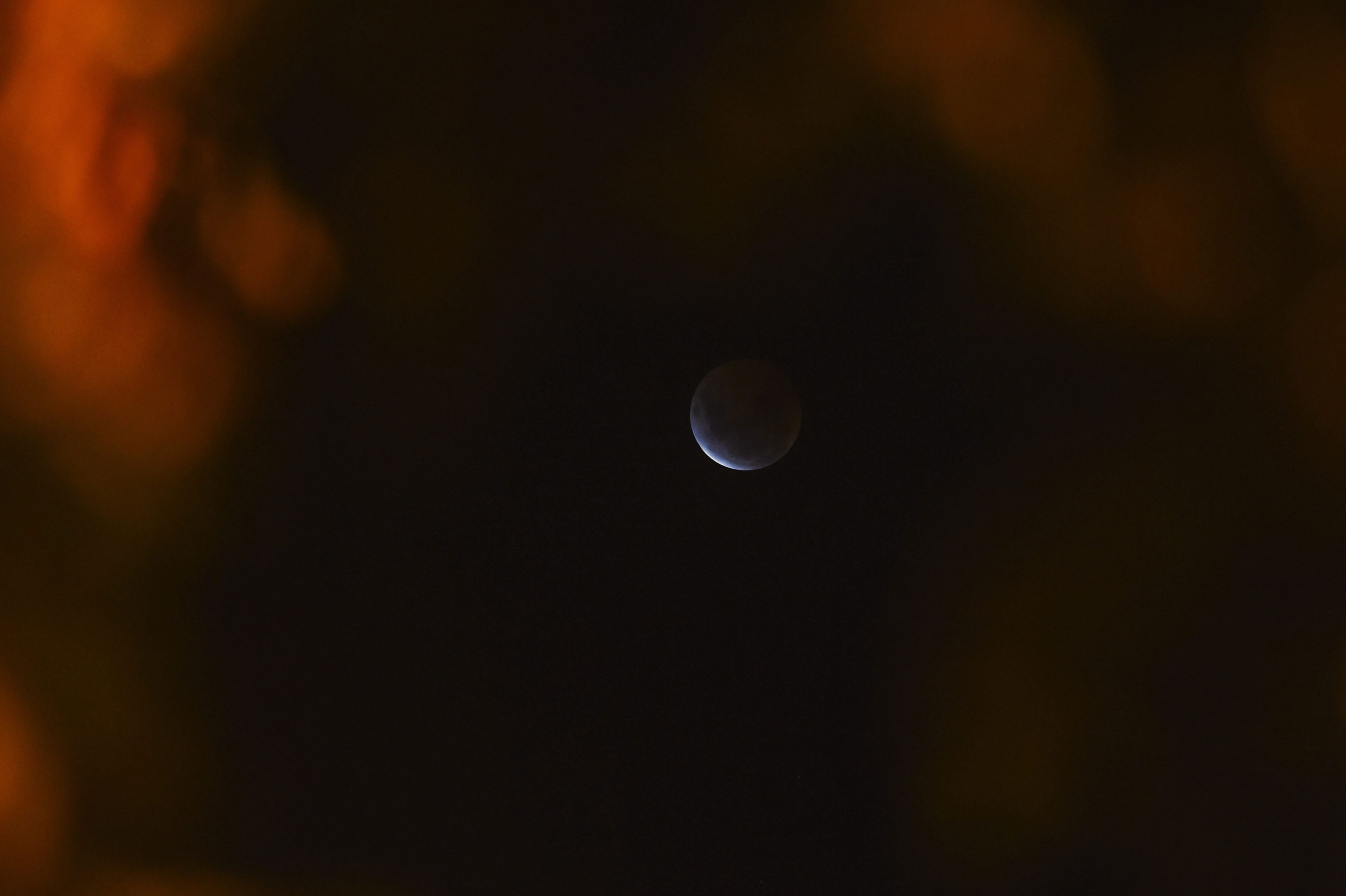 The beginning of the total lunar eclipse seen from Canberra, Australia, on April 4,  2015.