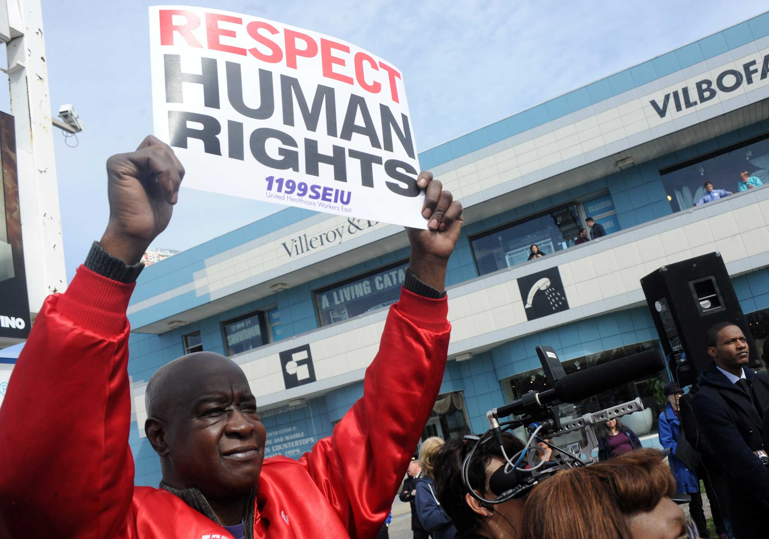 March2Justice demonstration calling for criminal justice reform, Staten Island, New York, April 13, 2015.
