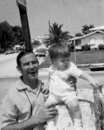 Marco Rubio and his father outside his parents first home in Miami, Fla., 1972.