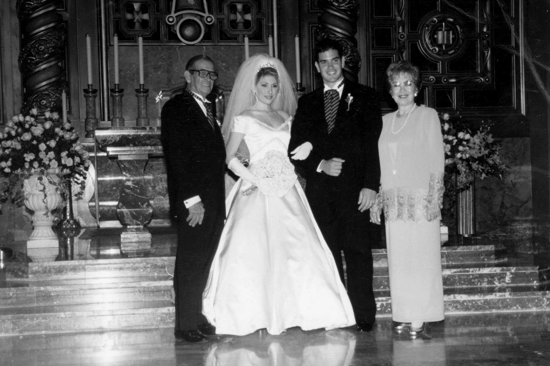Marco Rubio with his wife, Jeanette and his parents on his wedding day on Oct. 17, 1998.