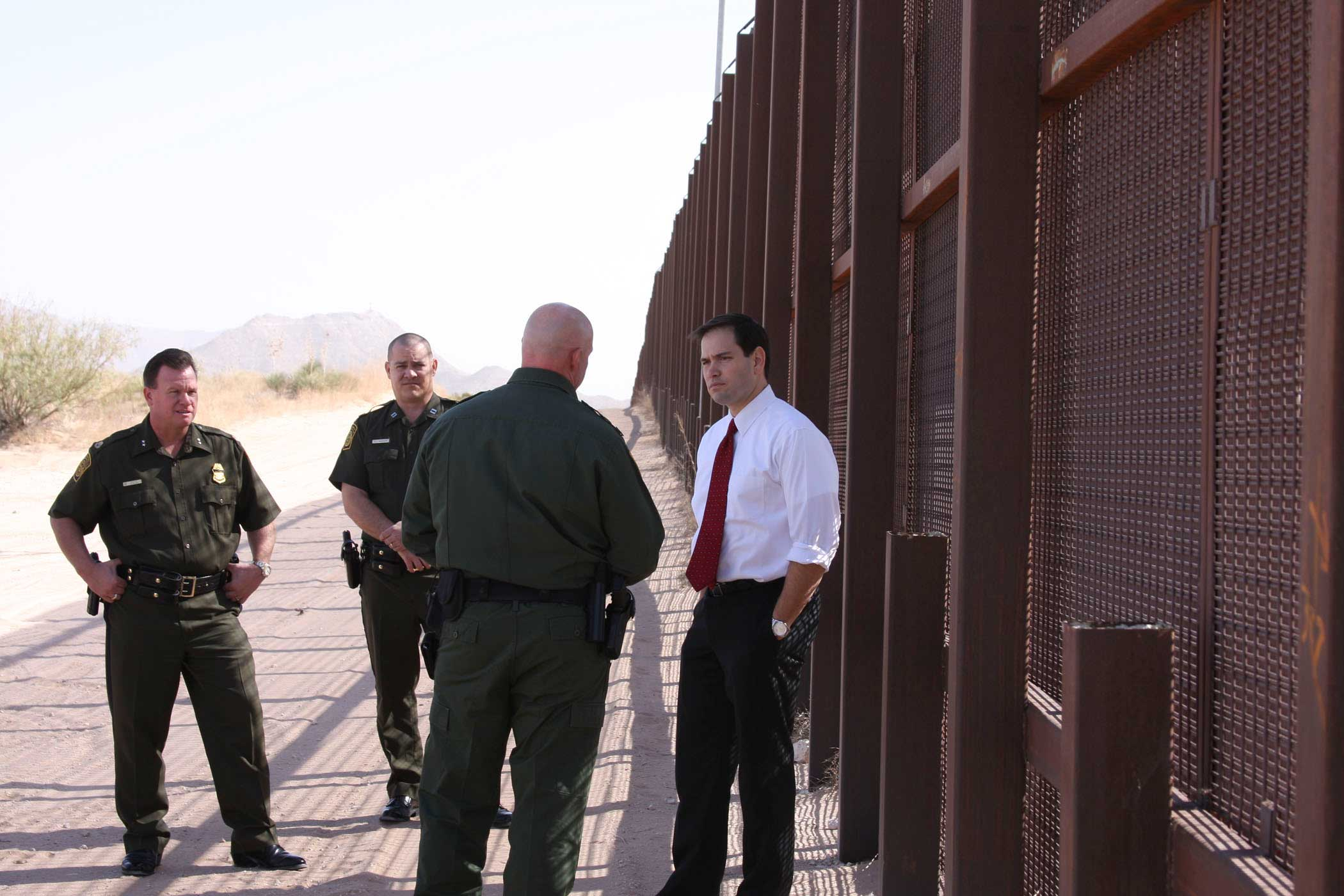 Senator Marco Rubio during a visit to the El Paso sector of the United States/Mexico border on Nov. 4, 2011.
