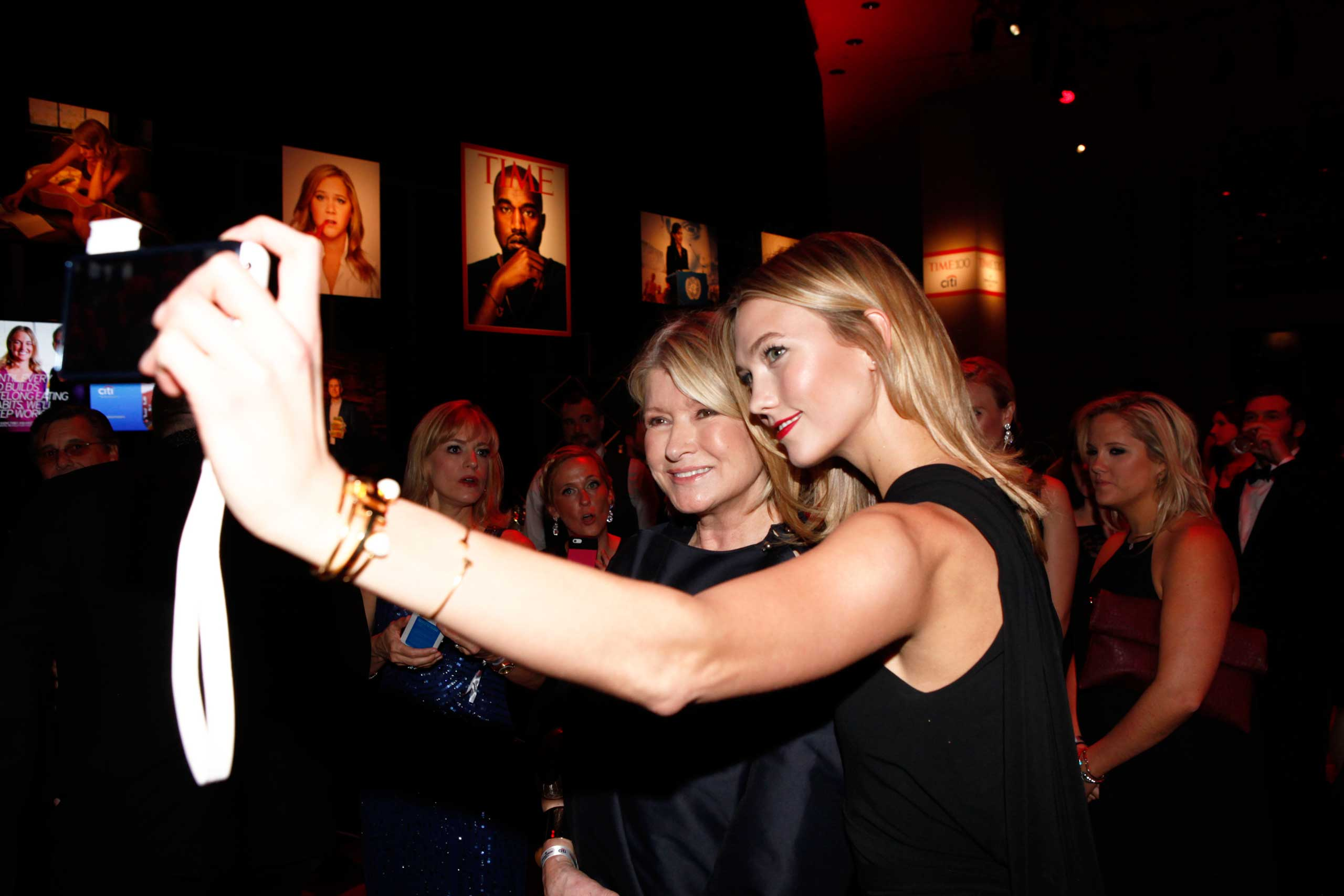 Martha Stewart and Karlie Kloss attend the TIME 100 Gala at Jazz at Lincoln Center in New York City on April 21, 2015.