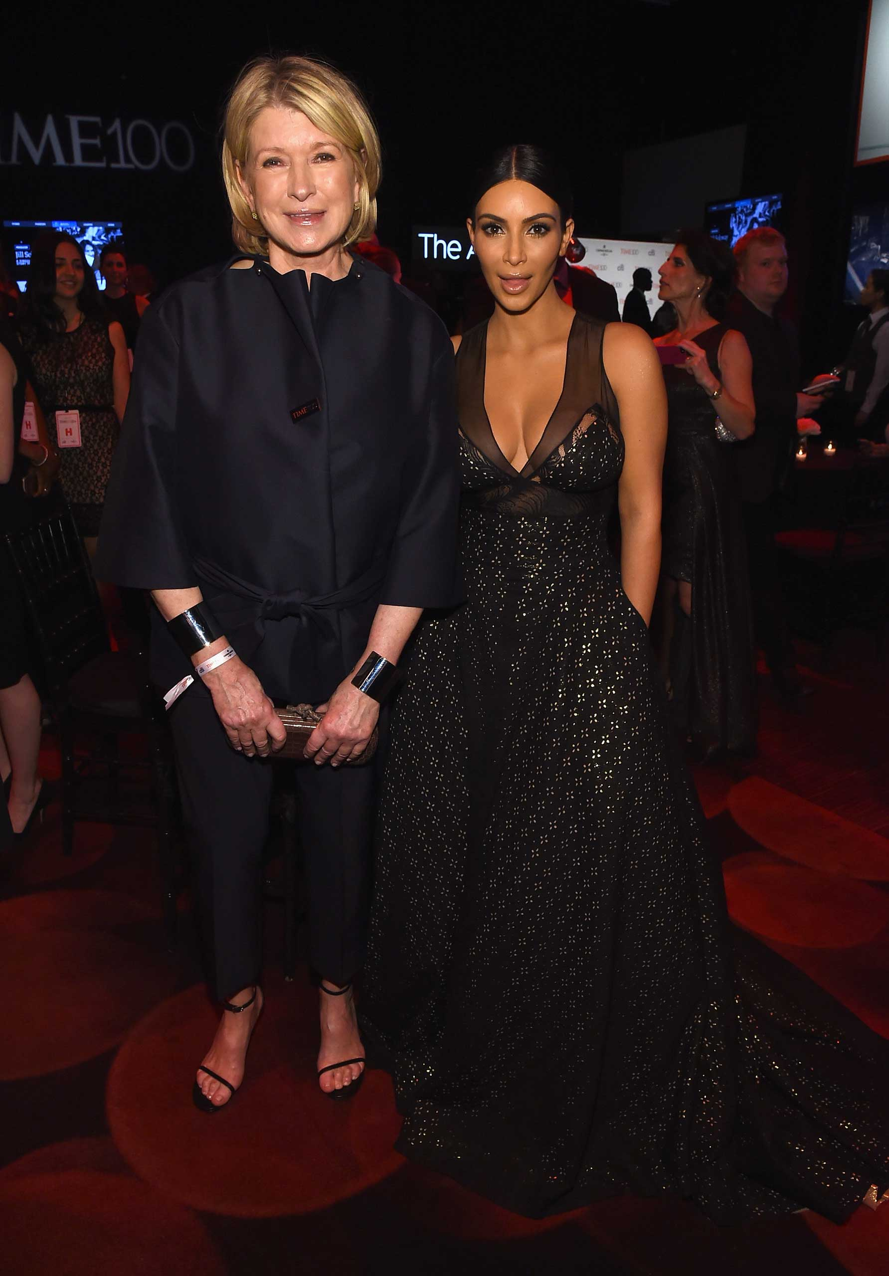 Martha Stewart and Kim Kardashian West attend the TIME 100 Gala at Jazz at Lincoln Center in New York City on Apr. 21, 2015.