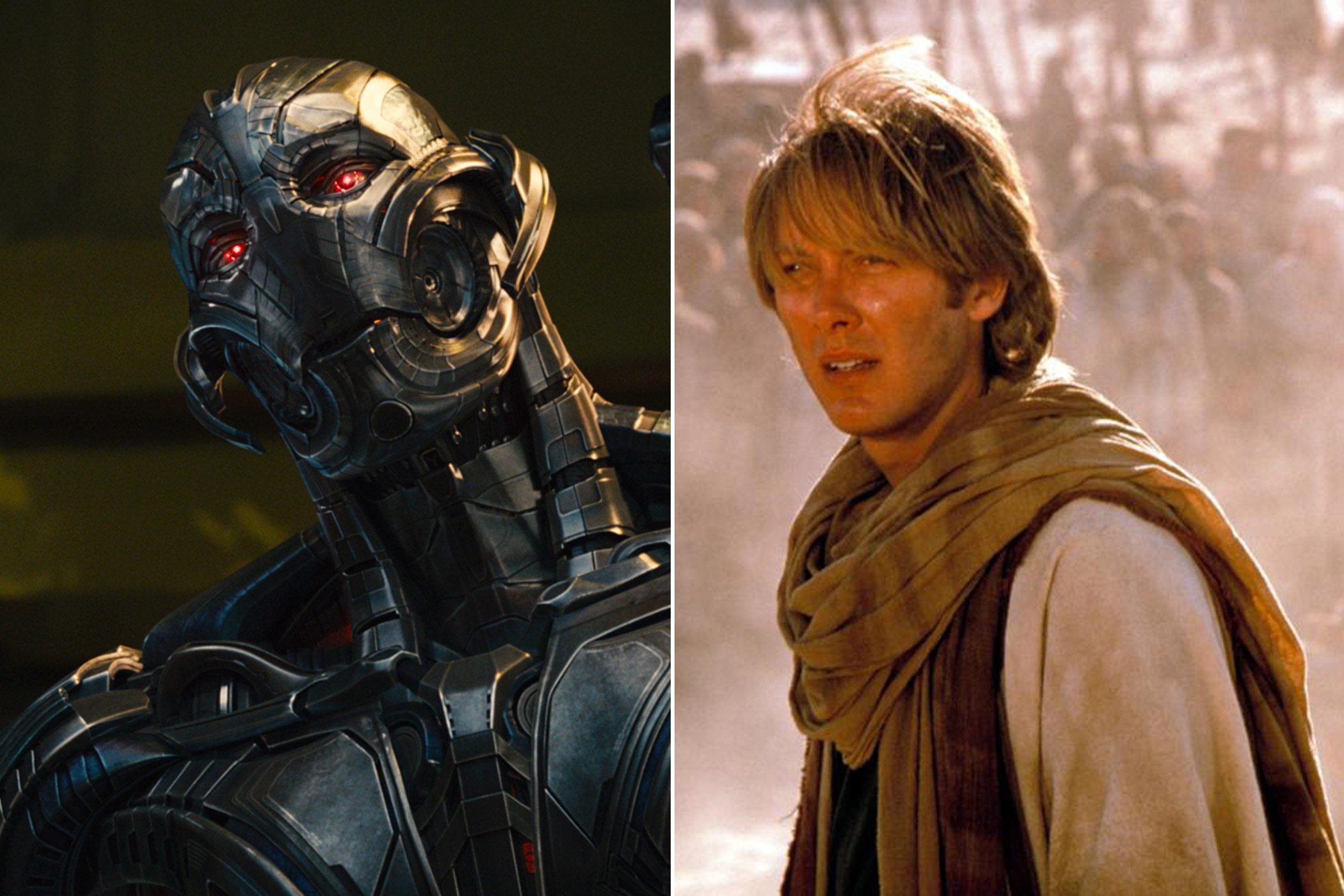James Spader as the voice of Ultron in <i>The Avengers: Age of Ultron</i> and Dr. Daniel Jackson in <i>Stargate</i>