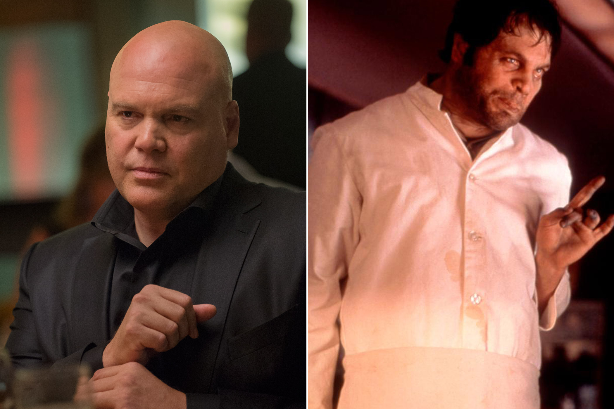 Vincent D'Onofrio as Wilson Fisk in <i>Daredevil</i> and Edgar the bug in <i>Men in Black</i>