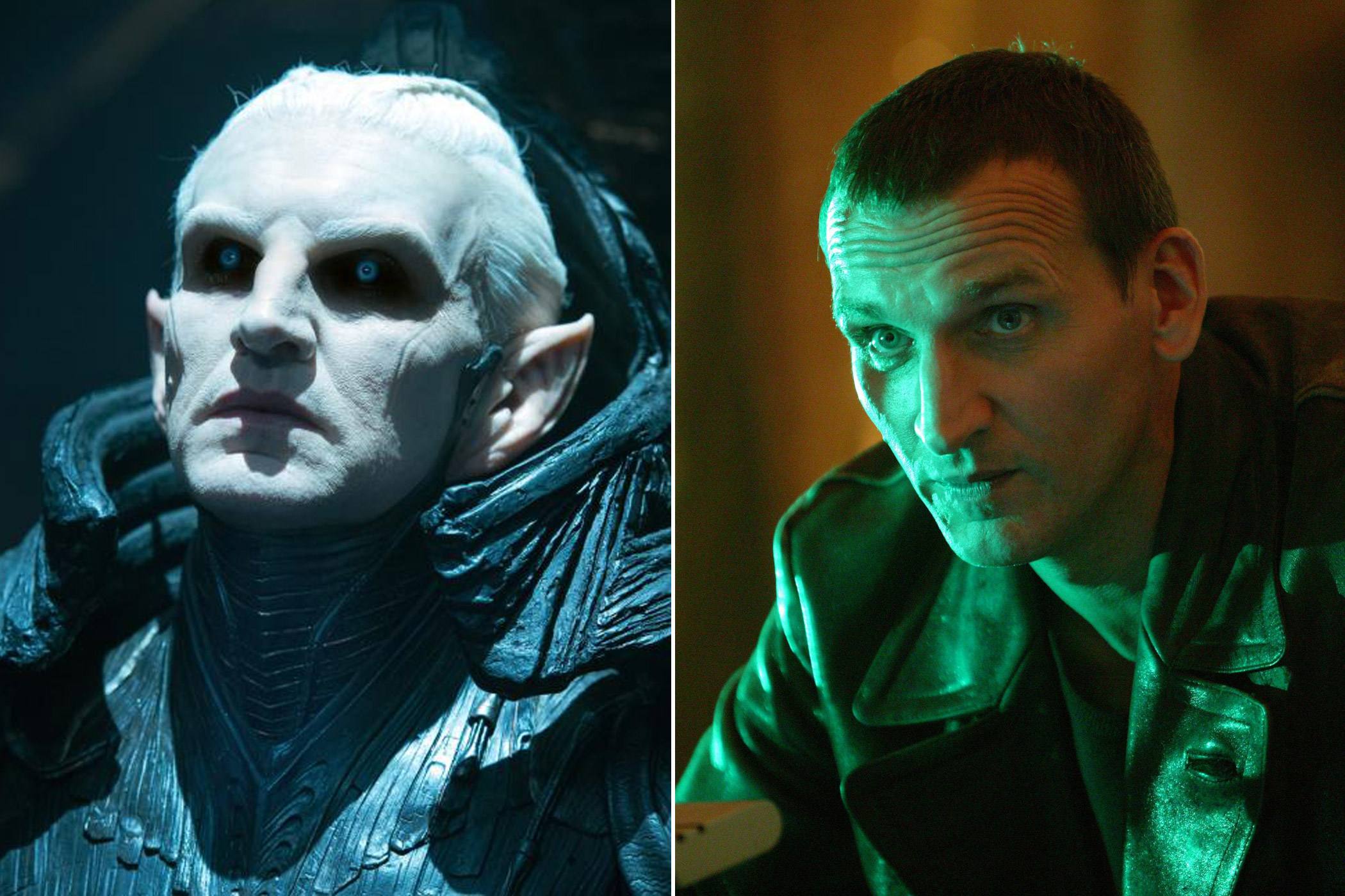 Christopher Eccleston as Malekith in <i>Thor: The Dark World</i> and the Ninth Doctor in <i>Doctor Who</i>