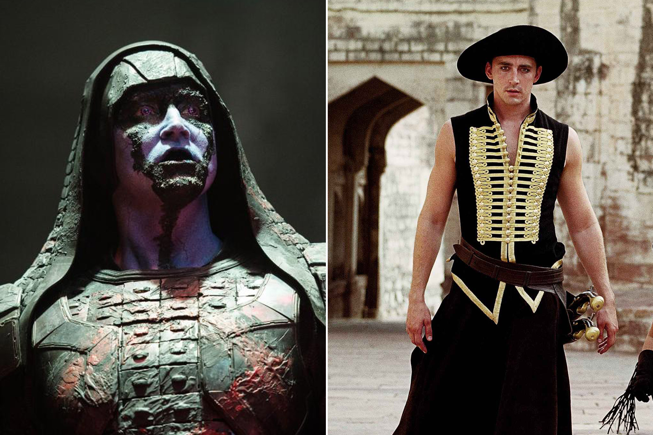 Lee Pace as Ronan the Accuser in <i>Guardians of the Galaxy</i> and Roy Walker/The Black Bandit in <i>The Fall</i>
