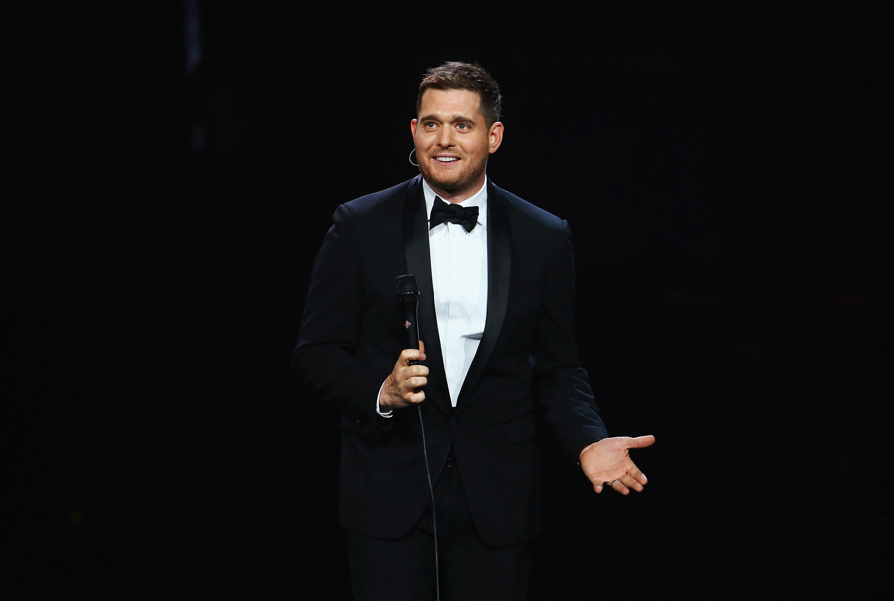Michael Buble performs live at Allphones Arena on May 9, 2014 in Sydney.