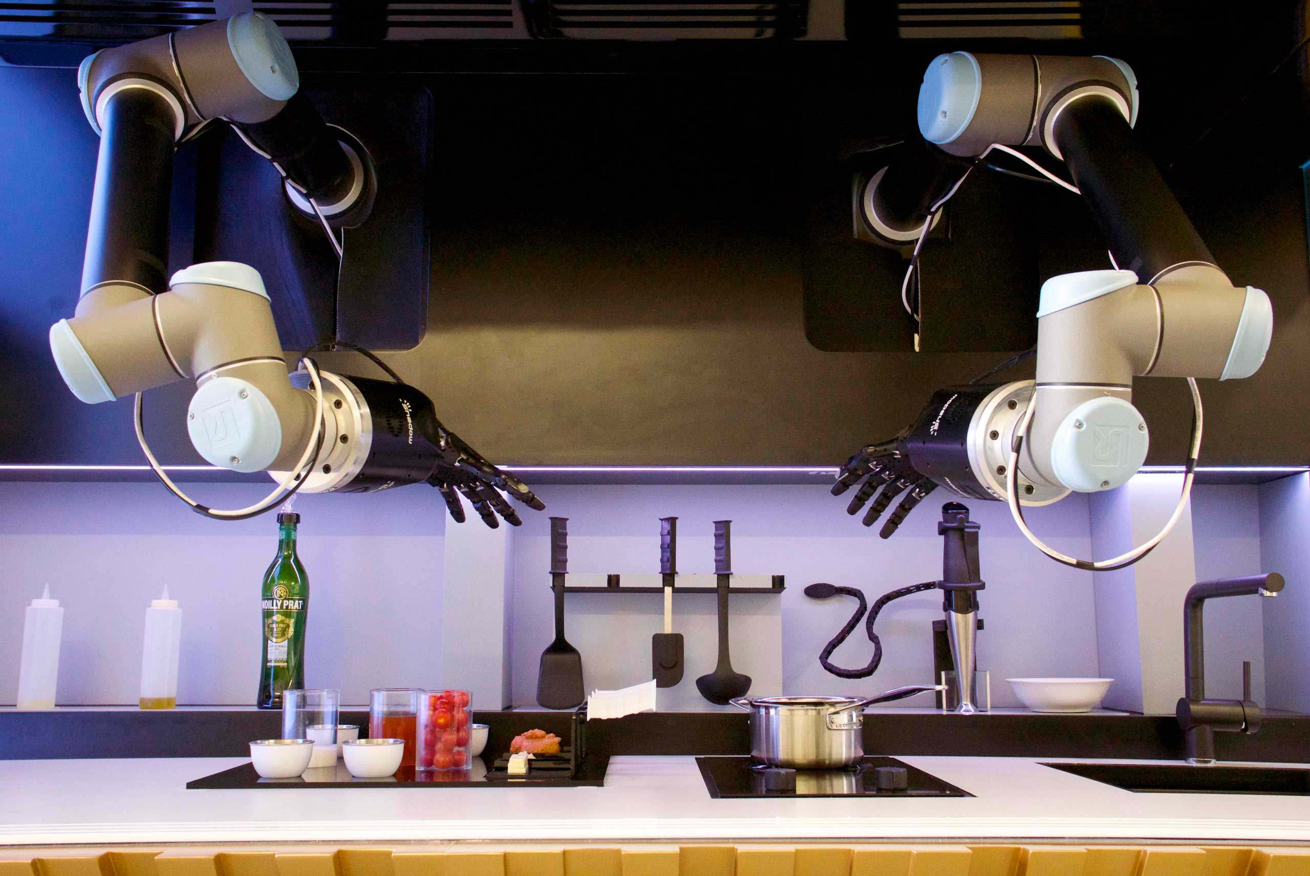 An automated kitchen by Moley Robotics.