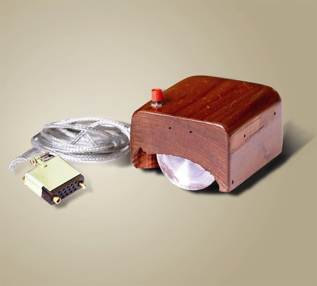 A prototype of the first mouse, from 1968