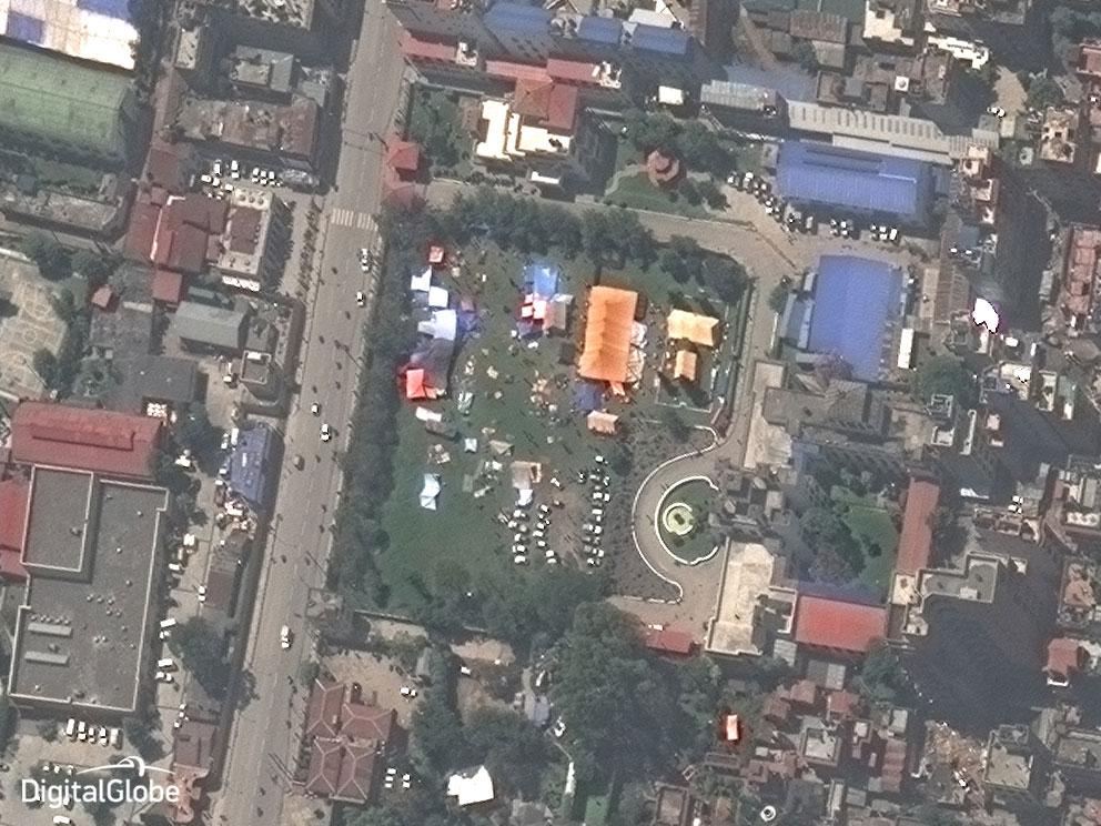 Kathmandu on April 27, 2015.