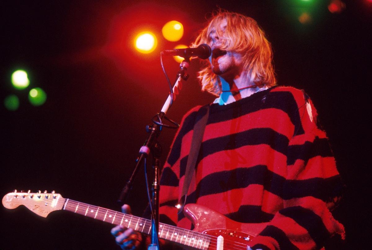 Kurt Cobain of Nirvana during Nirvana in New York, New York, in 1990