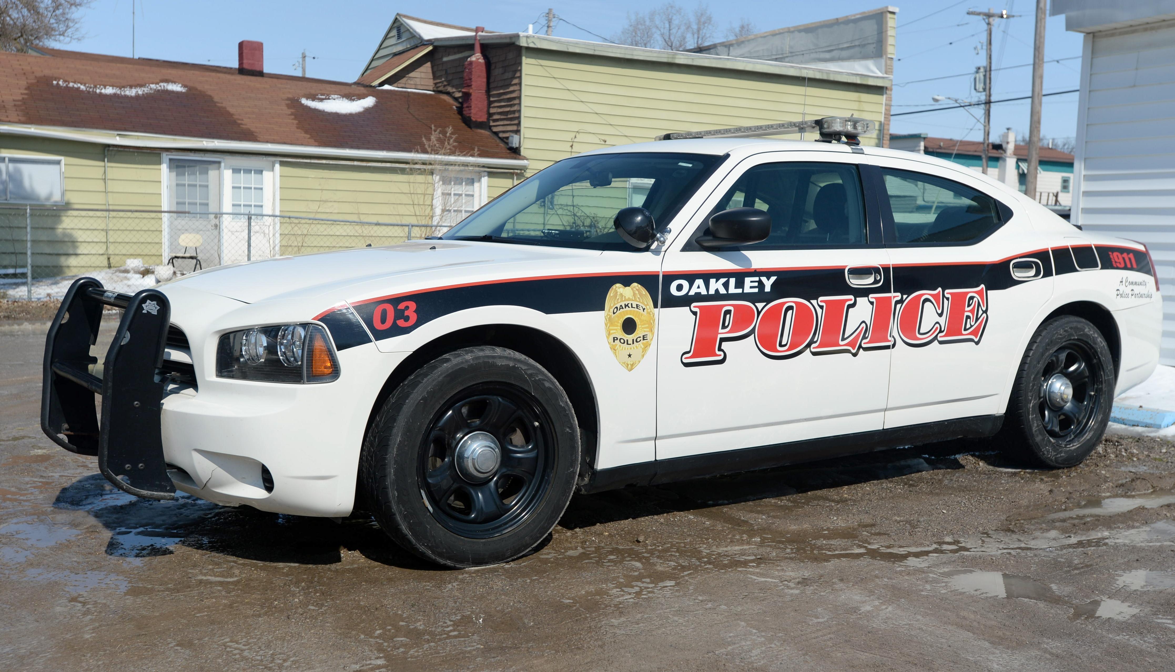 An Oakley police car in Oakley, Mich., on March 14, 2014 .