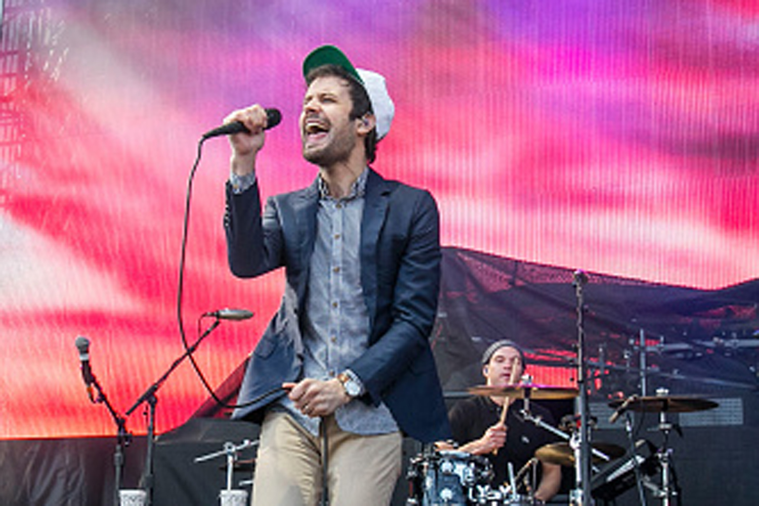 Michael Angelakos of Passion Pit performs on April 4, 2015, in Indianapolis, Indiana.