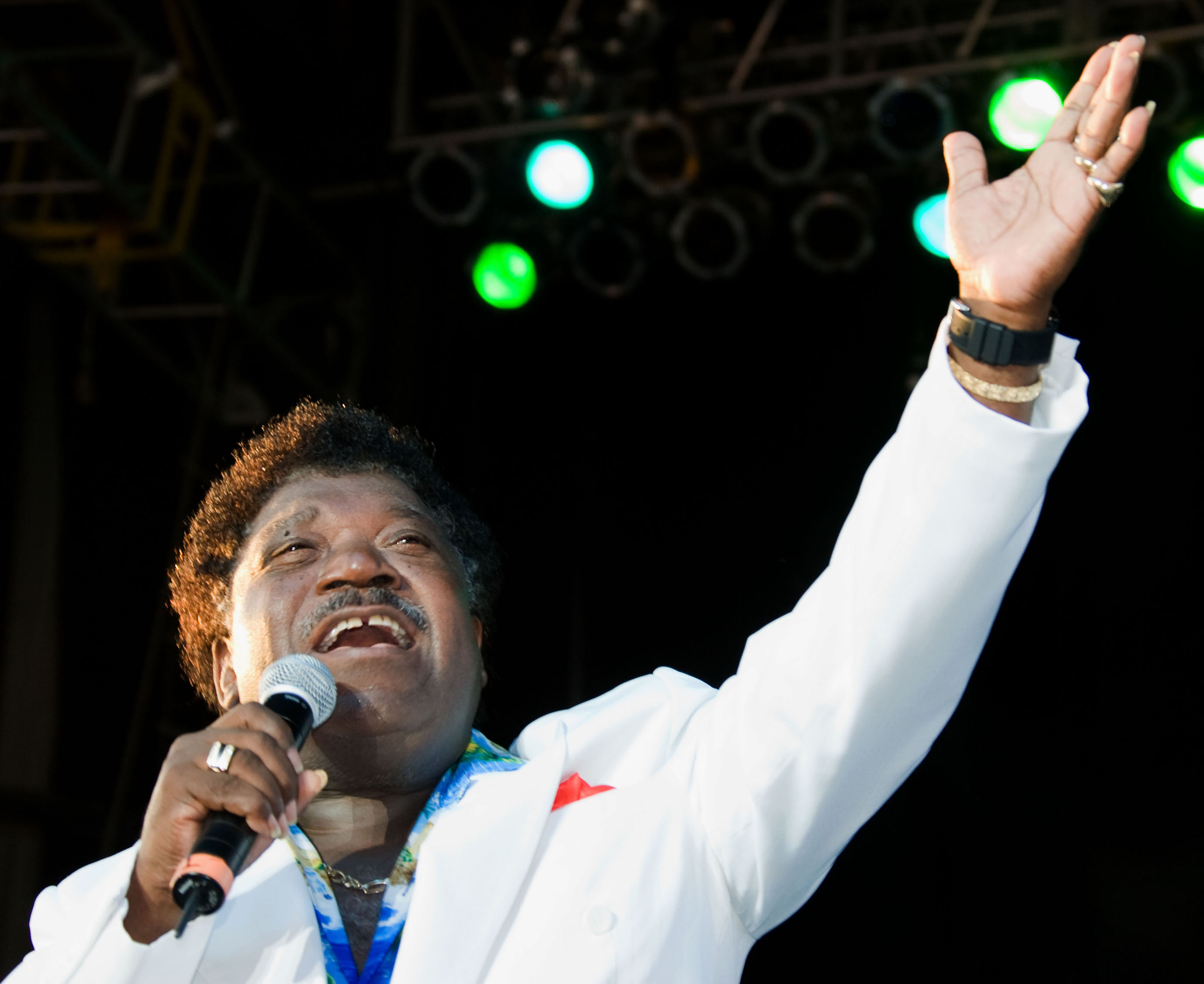 Percy Sledge performs at ''Rock 'N' Roll Reunion XXVIII'' on the Grandstand stage at the Iowa State Fair on Aug. 11, 2007.