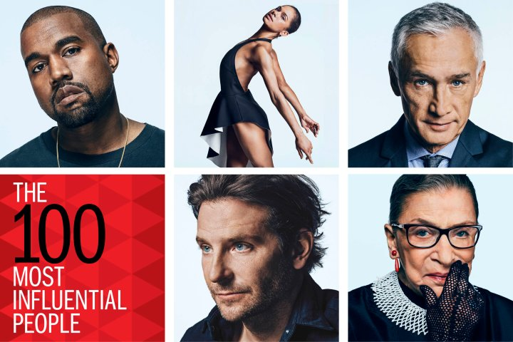 TIME 100 Grid Kanye West Misty Copeland Jorge Ramos Bradley Cooper Ruth Bader Ginsburg
