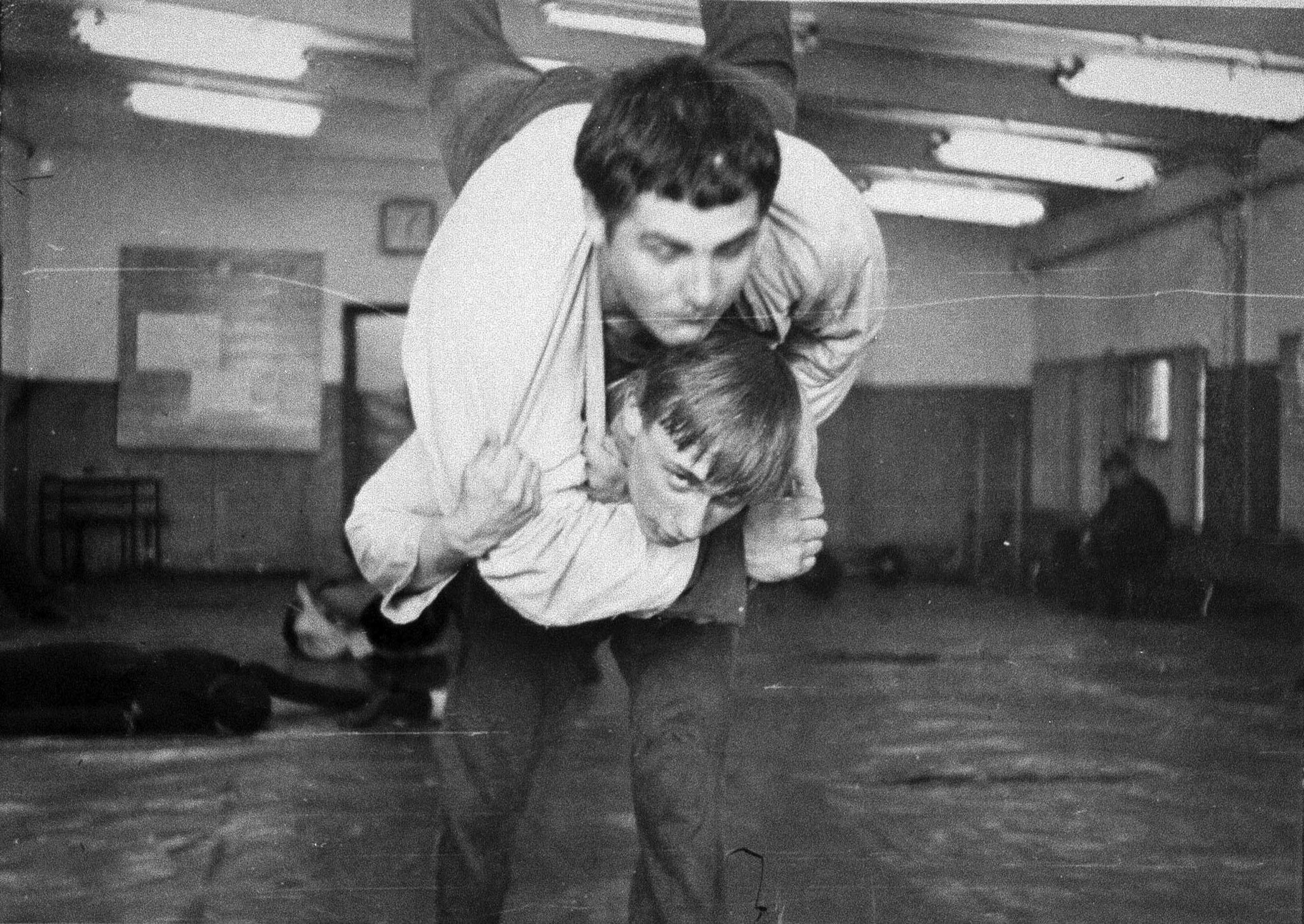 A young Vladimir Putin during judo training with fellow pupil Vassily Shestakov in St. Petersburg, then known as Leningrad, in 1971.