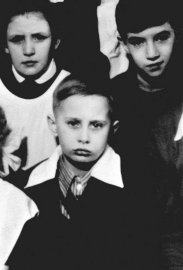 A class photo of Vladimir Putin in St. Petersburg, circa 1960.