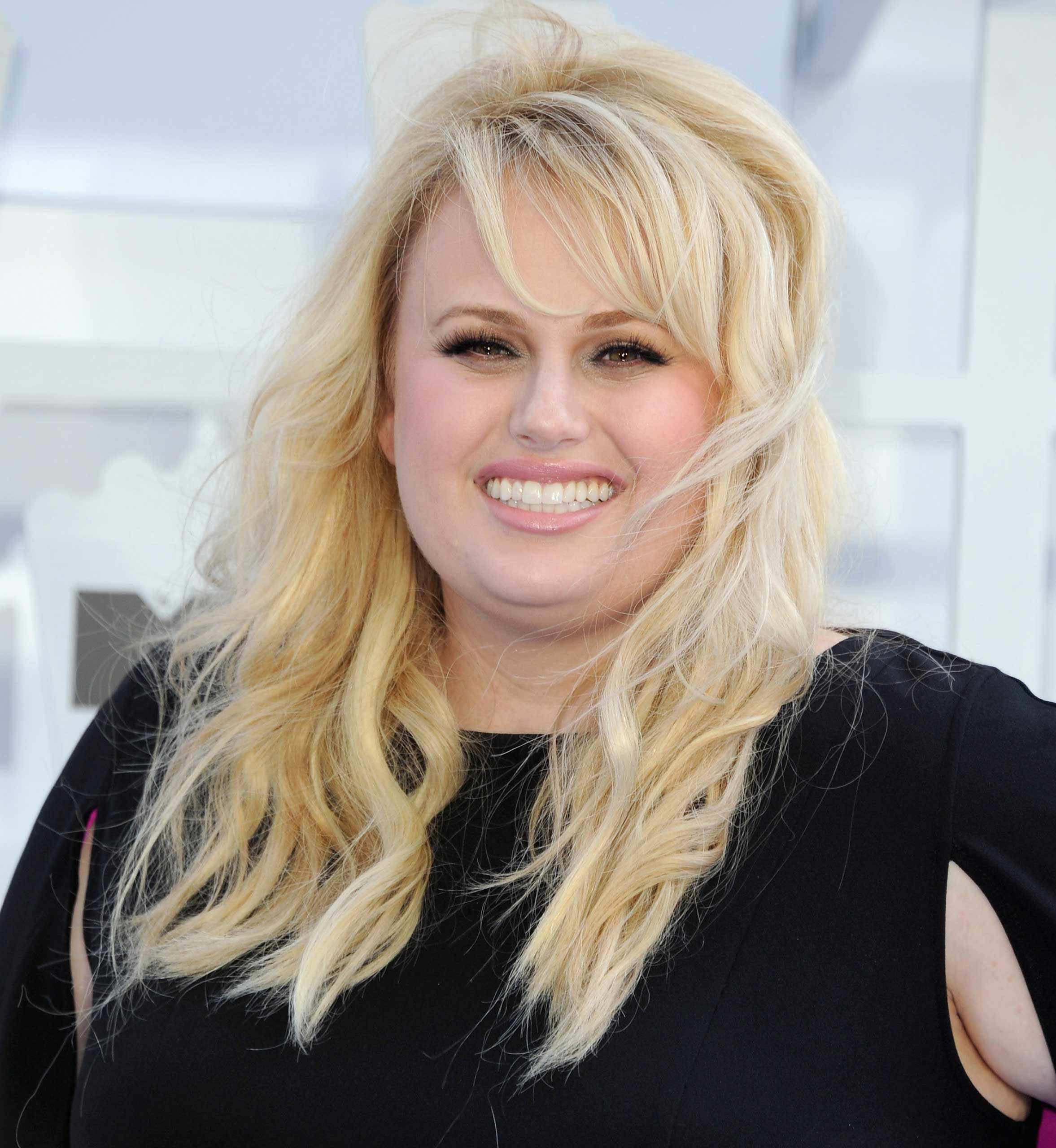 Actress Rebel Wilson arrives at the 2015 MTV Movie Awards at Nokia Theatre L.A.