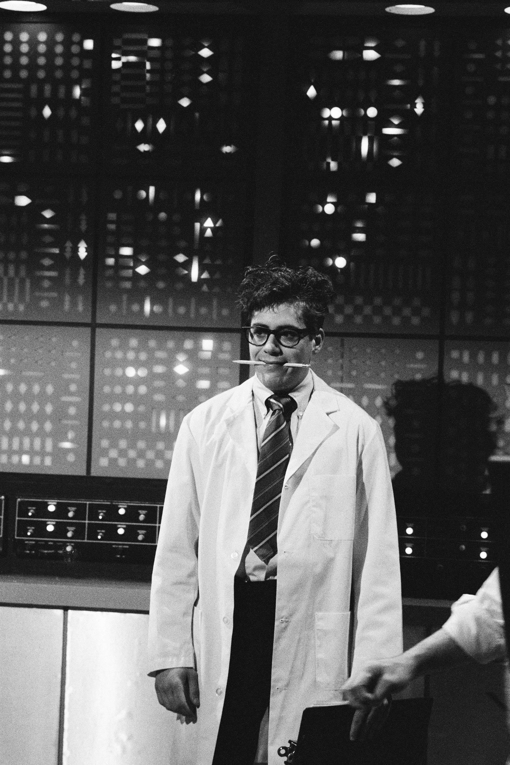 Robert Downey Jr. as Bruce Winston on <i>Saturday Night Live</i> in 1985.