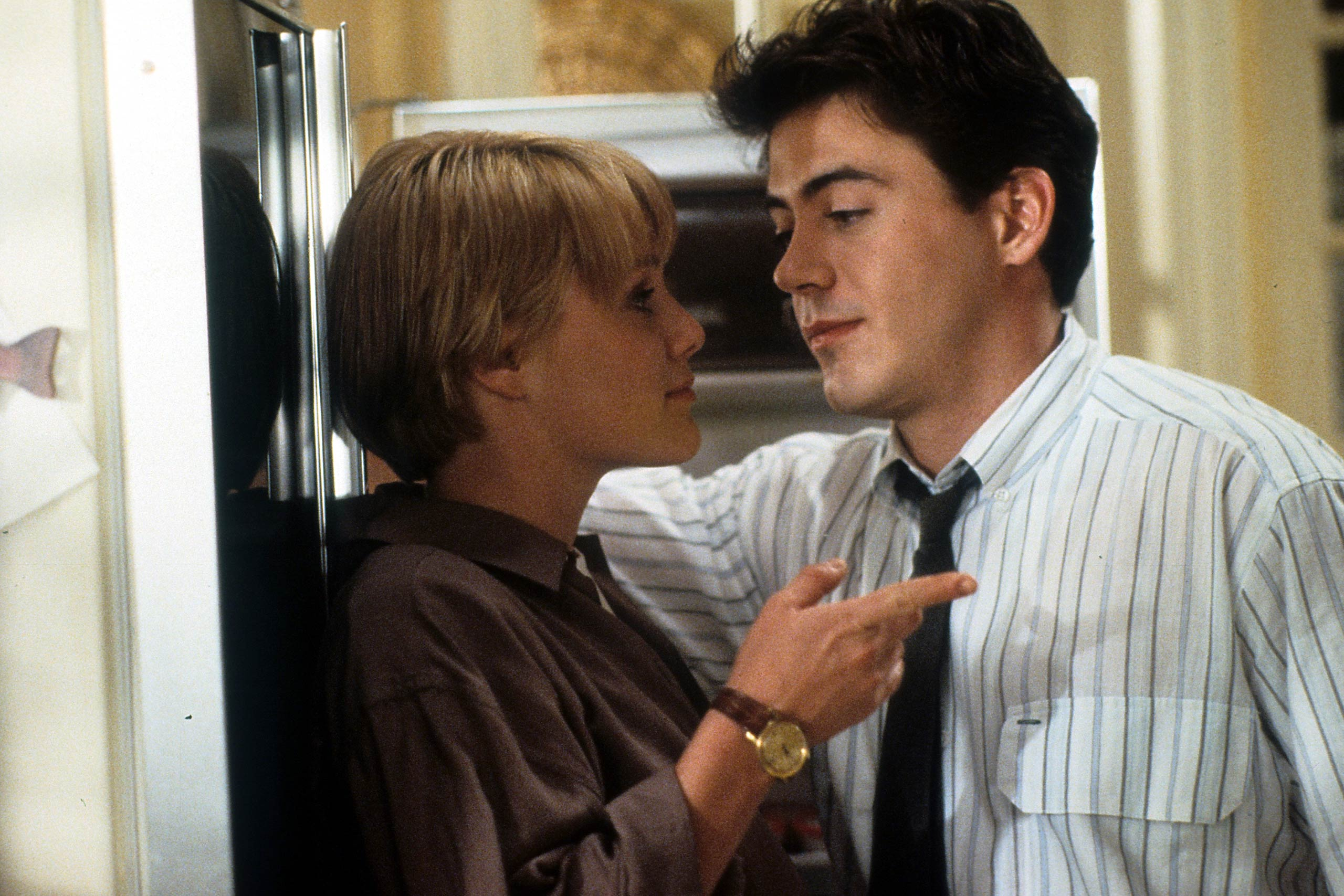 Mary Stuart Masterson and Robert Downey Jr in <i>Chances Are</i>, 1989.