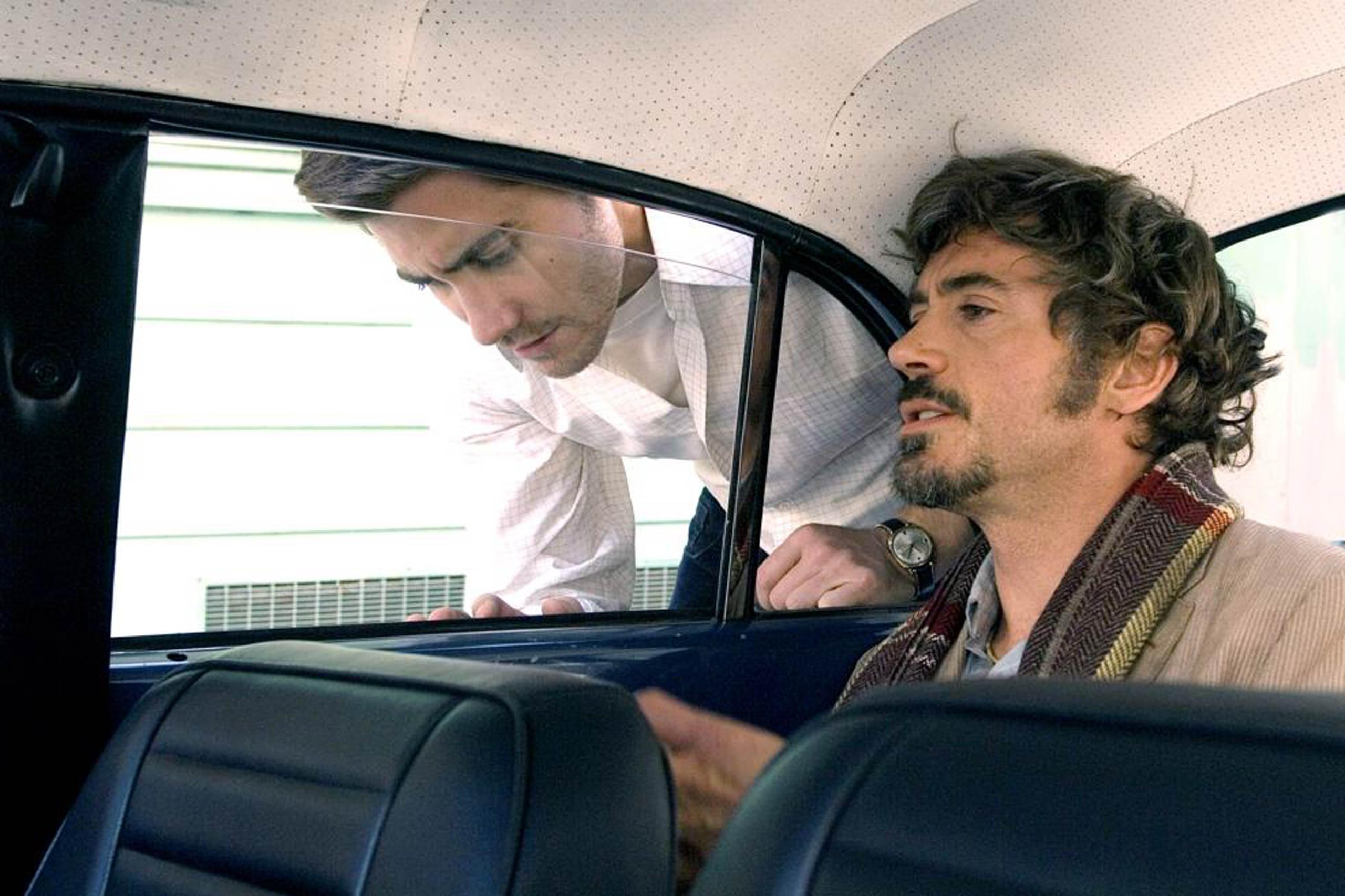 Jake Gyllenhaal and Robert Downey Jr. in <i>Zodiac</i>, 2007.