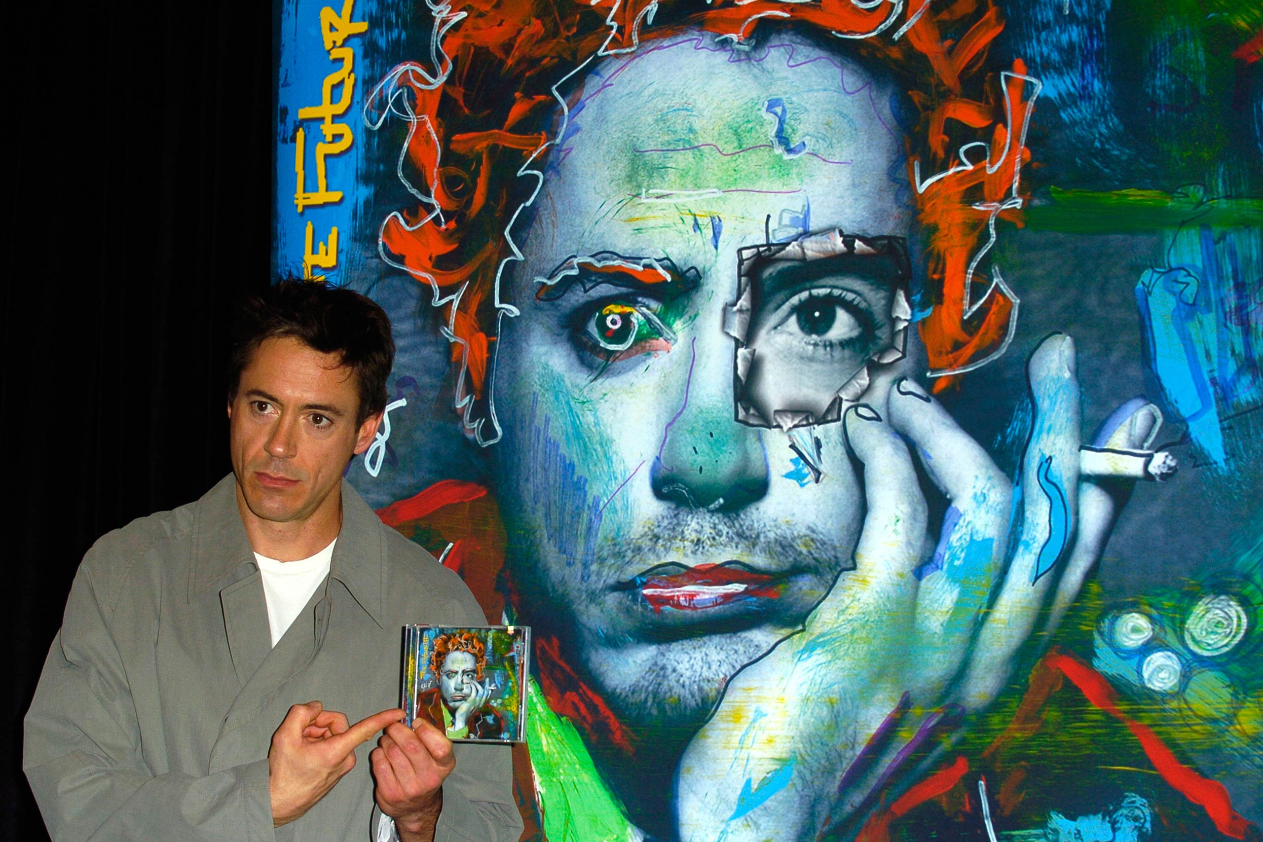 """Robert Downey Jr. during a signing for his Debut CD """"The Futurist"""" at the Virgin Megastore in Los Angeles, Calif. in 2004."""