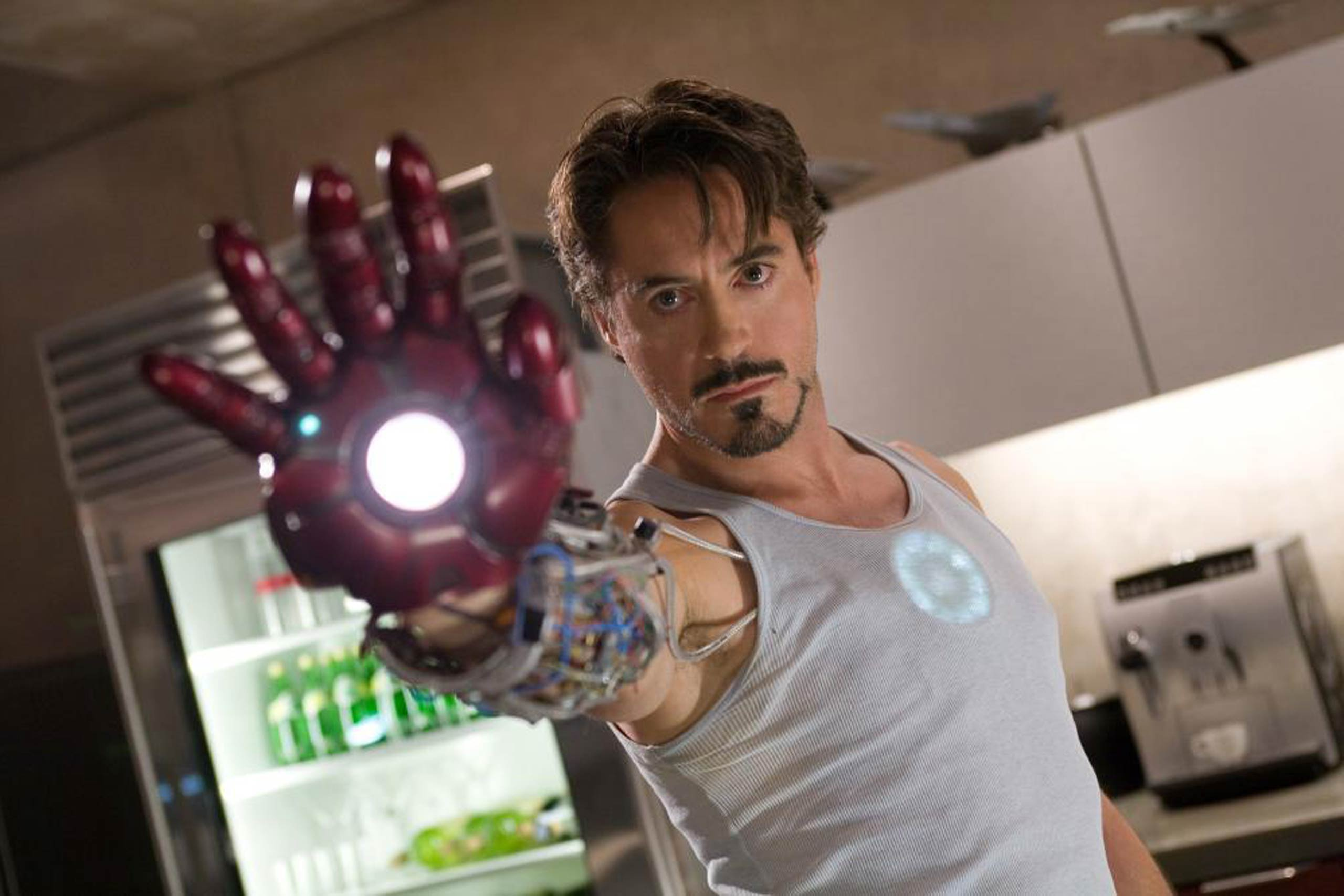 Robert Downey Jr. in Iron Man, 2008.