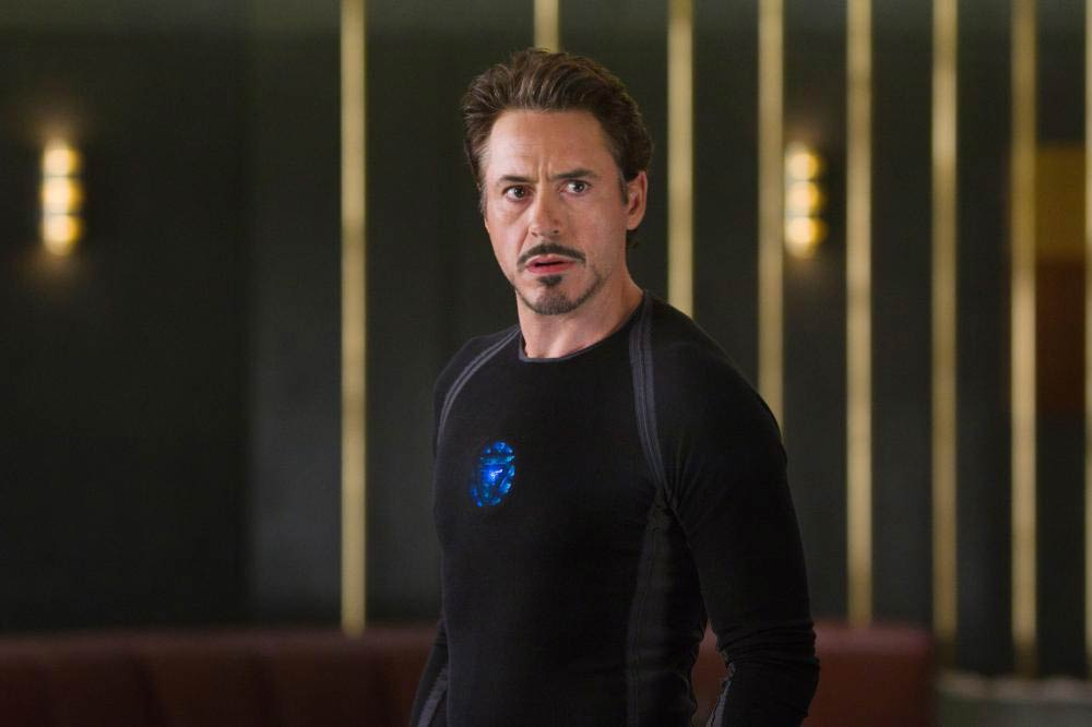 Robert Downey Jr. in <i>The Avengers</i>, 2012.