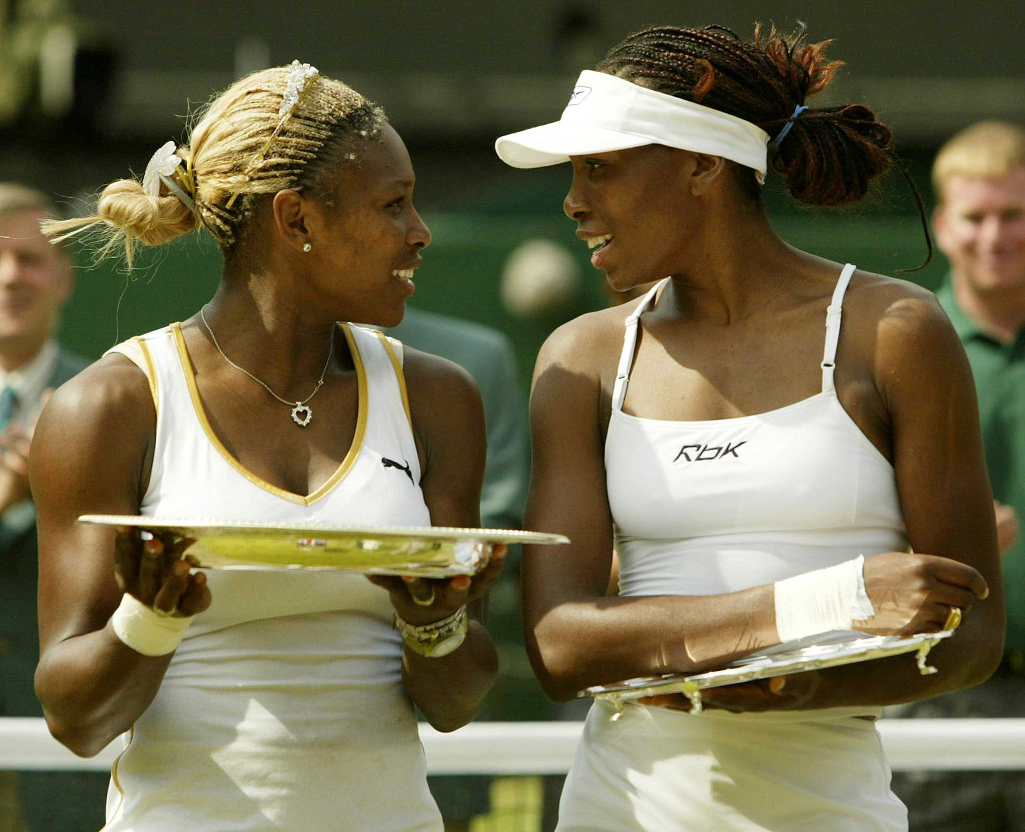 THE WILLIAMS SISTERS: Of her older sister Venus, Serena (left) has said,  No one gets me more motivated than (her) because I don't want her to catch up with me.