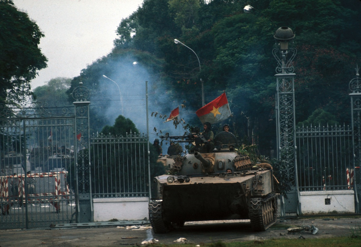 Saigon's fall and the taking of the presidential palace, on April 30, 1975