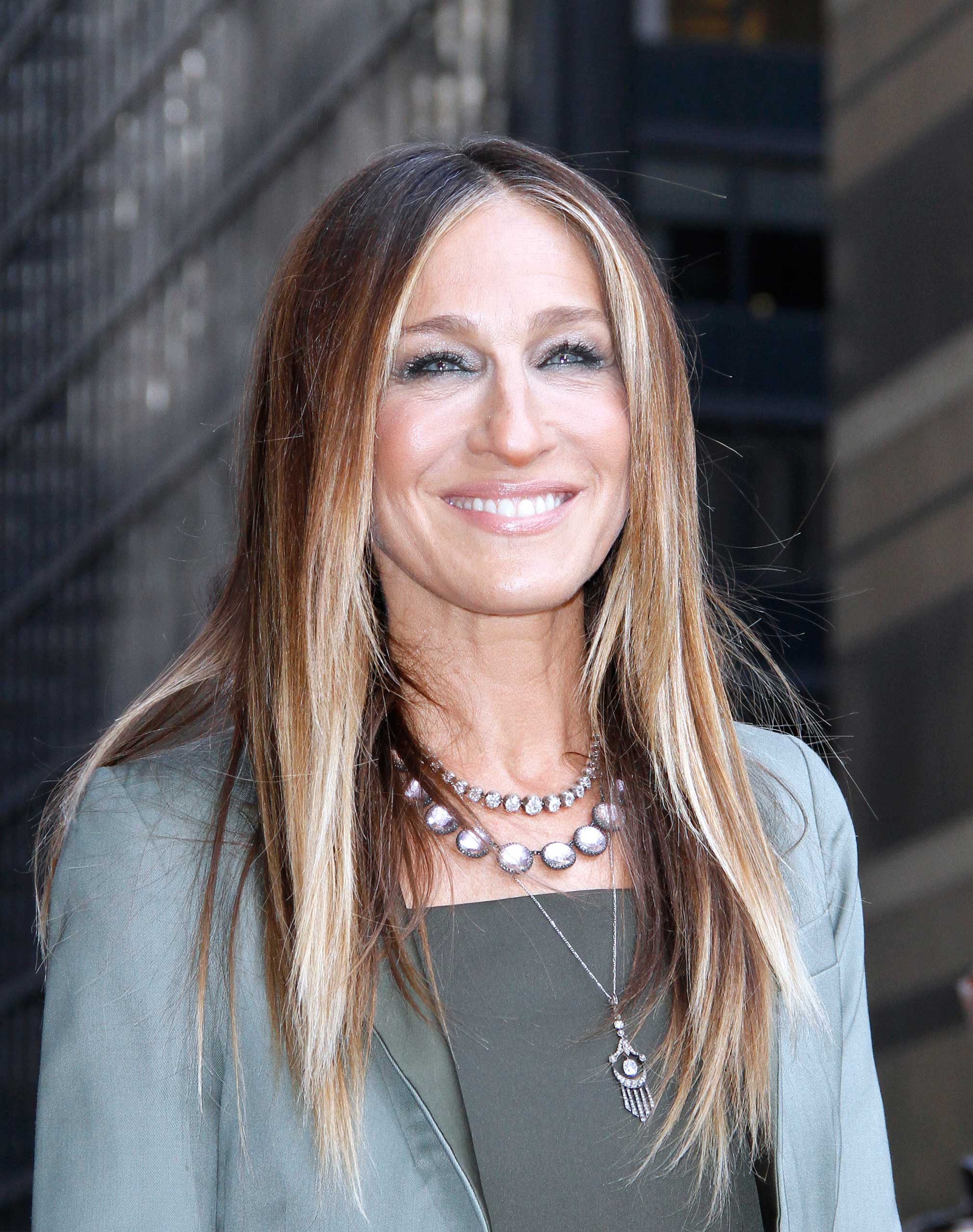 Sarah Jessica Parker leaves the Late Show With David Letterman at Ed Sullivan Theater in New York City on April 13, 2015
