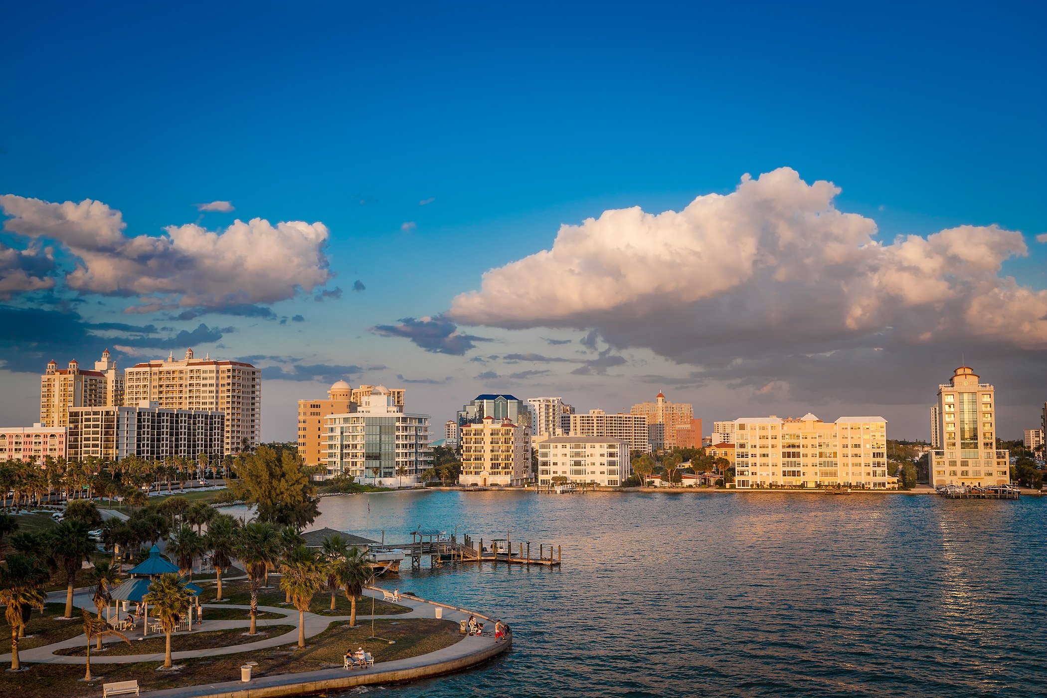The waterfront in Sarasota, Florida