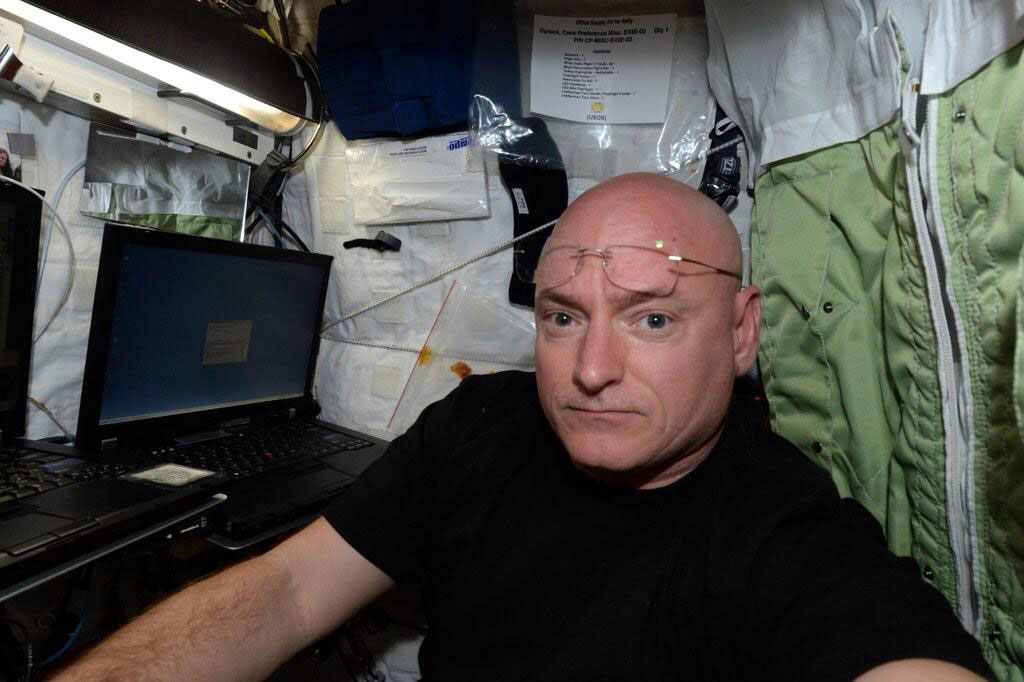 """"""".@FLOTUS Thank you. Made it! Moving into crew quarters on @space_station to begin my #yearinspace."""" - <a href=""""https://twitter.com/StationCDRKelly/status/582546416796504064"""" target=""""_blank"""">via Twitter</a> on March 30, 2015"""