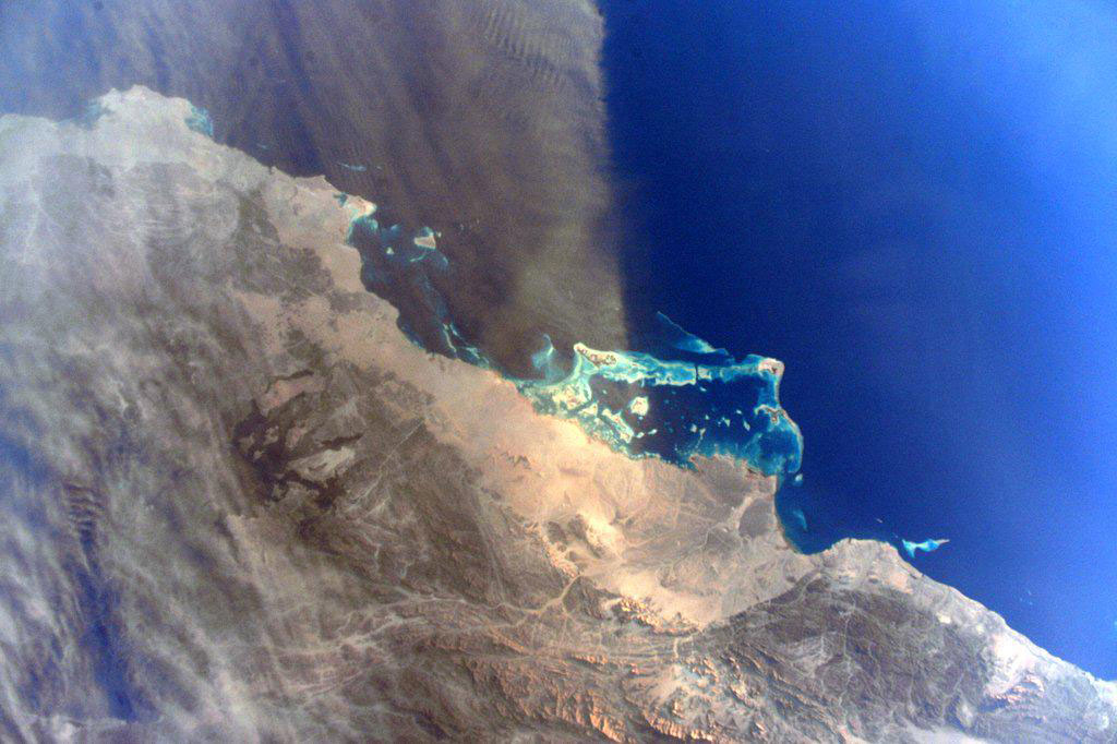 """""""Blown away by a dust swept #RedSea. Good morning from the @space_station!  #YearInSpace."""" - <a href=""""https://twitter.com/StationCDRKelly/status/590505452120756225"""" target=""""_blank"""">via Twitter</a> on April 21, 2015"""