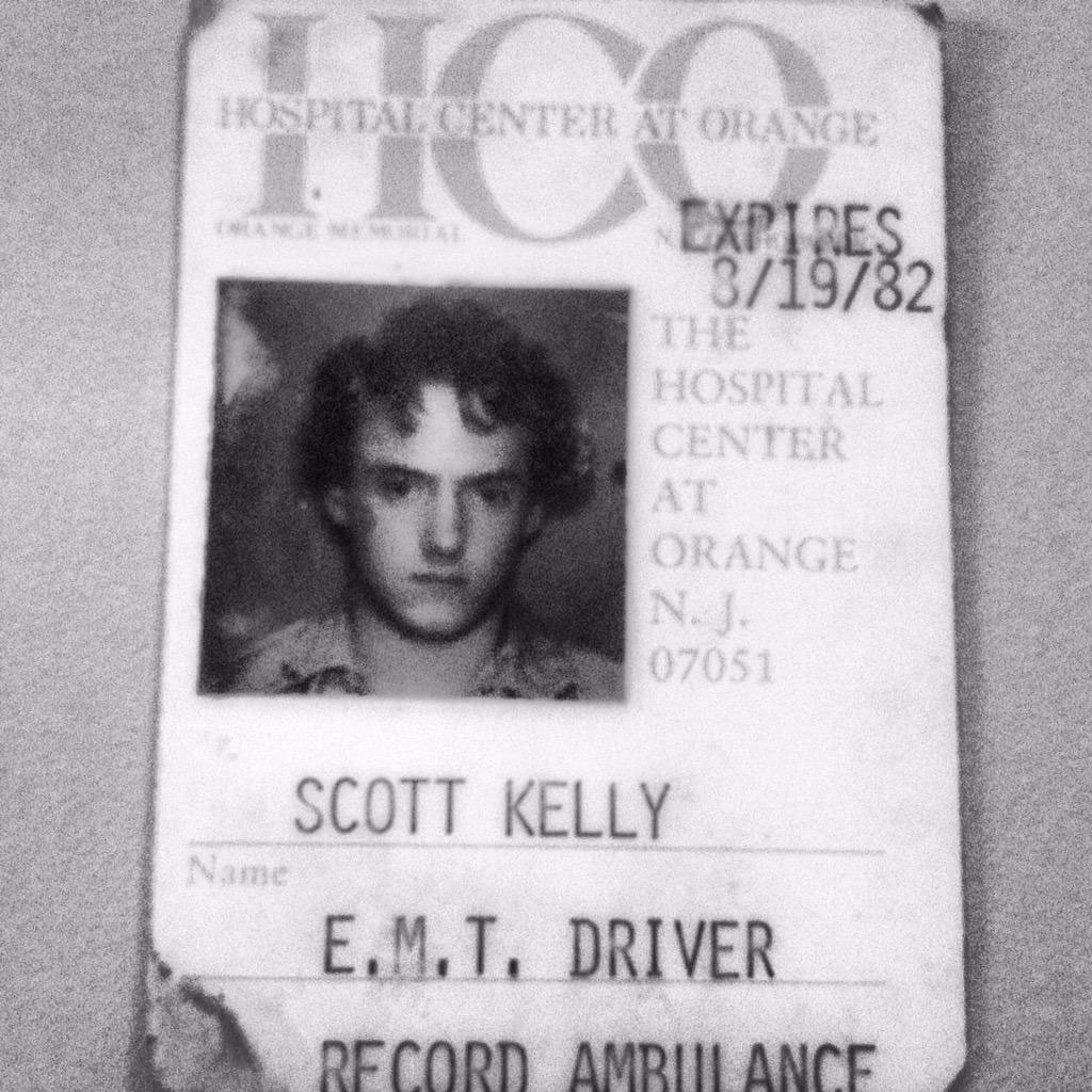 """""""#FlashbackFriday Got my 1st EMT training at 16. Emergency medical training on #ISS keeps me 35 years proficient."""" - <a href=""""https://twitter.com/StationCDRKelly/status/584079335809654784"""" target=""""_blank"""">via Twitter</a> on April 3, 2015"""