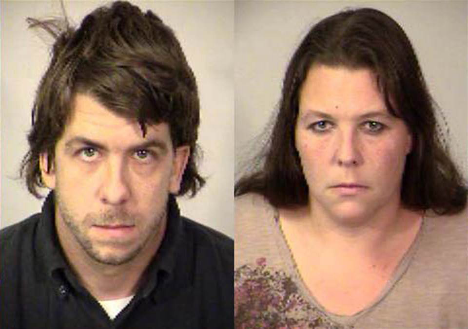 Scott Suggs, 28, and Brandy Kangas, 36, of Spotsylvania County, Virginia, pleaded guilty on March 30 after police say they locked their three children behind a gate in filthy conditions in the home.