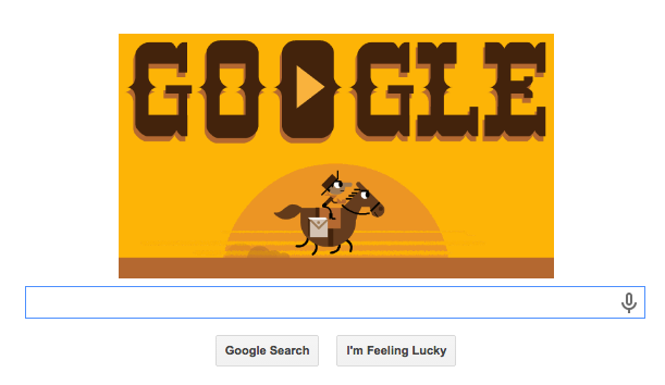 Google: Doodle Celebrates the Pony Express With a Game   Time