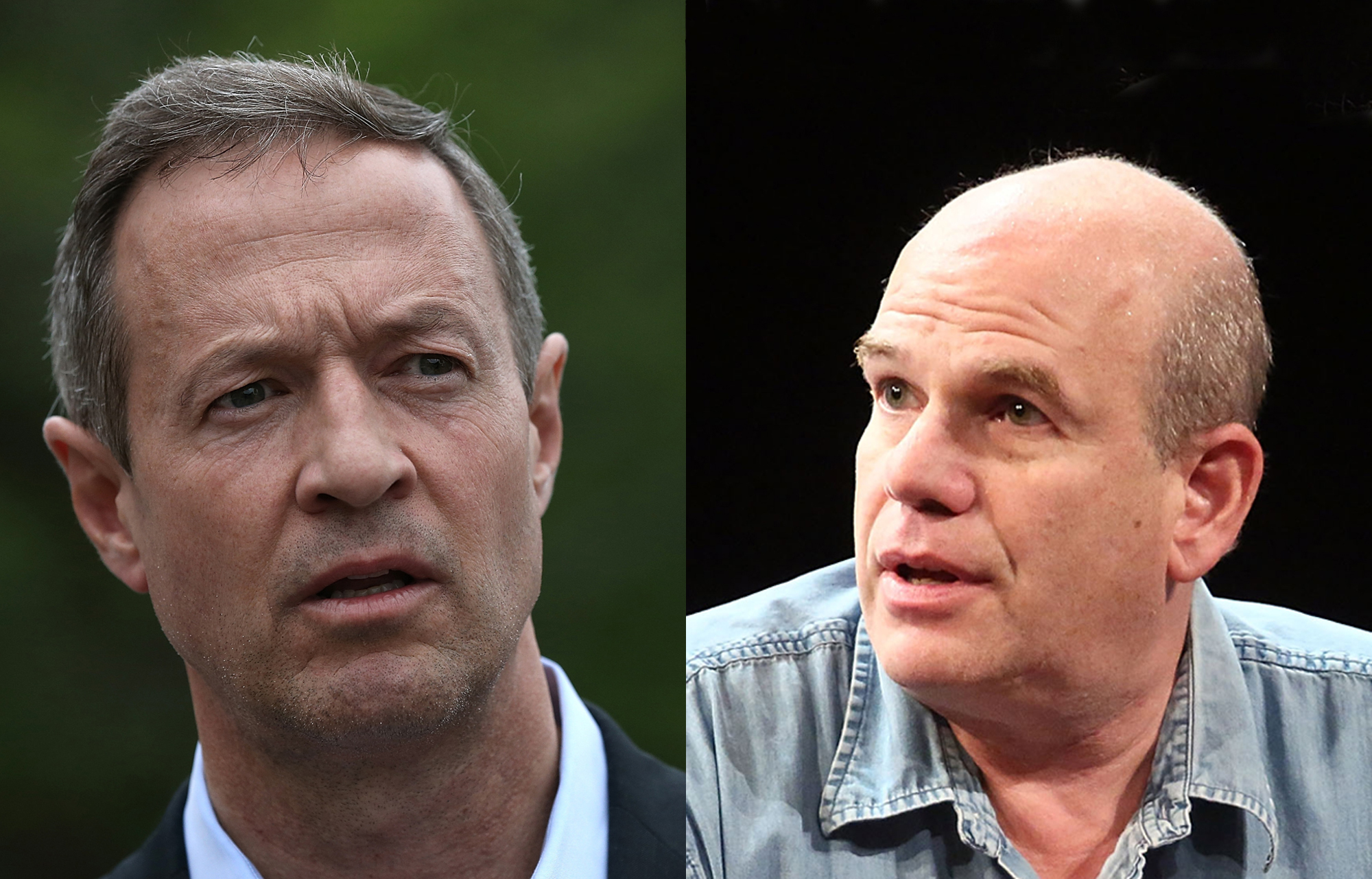 (L-R) Former Maryland Gov. Martin O'Malley (D-MD) and David Simon, creator of the HBO show, The Wire
