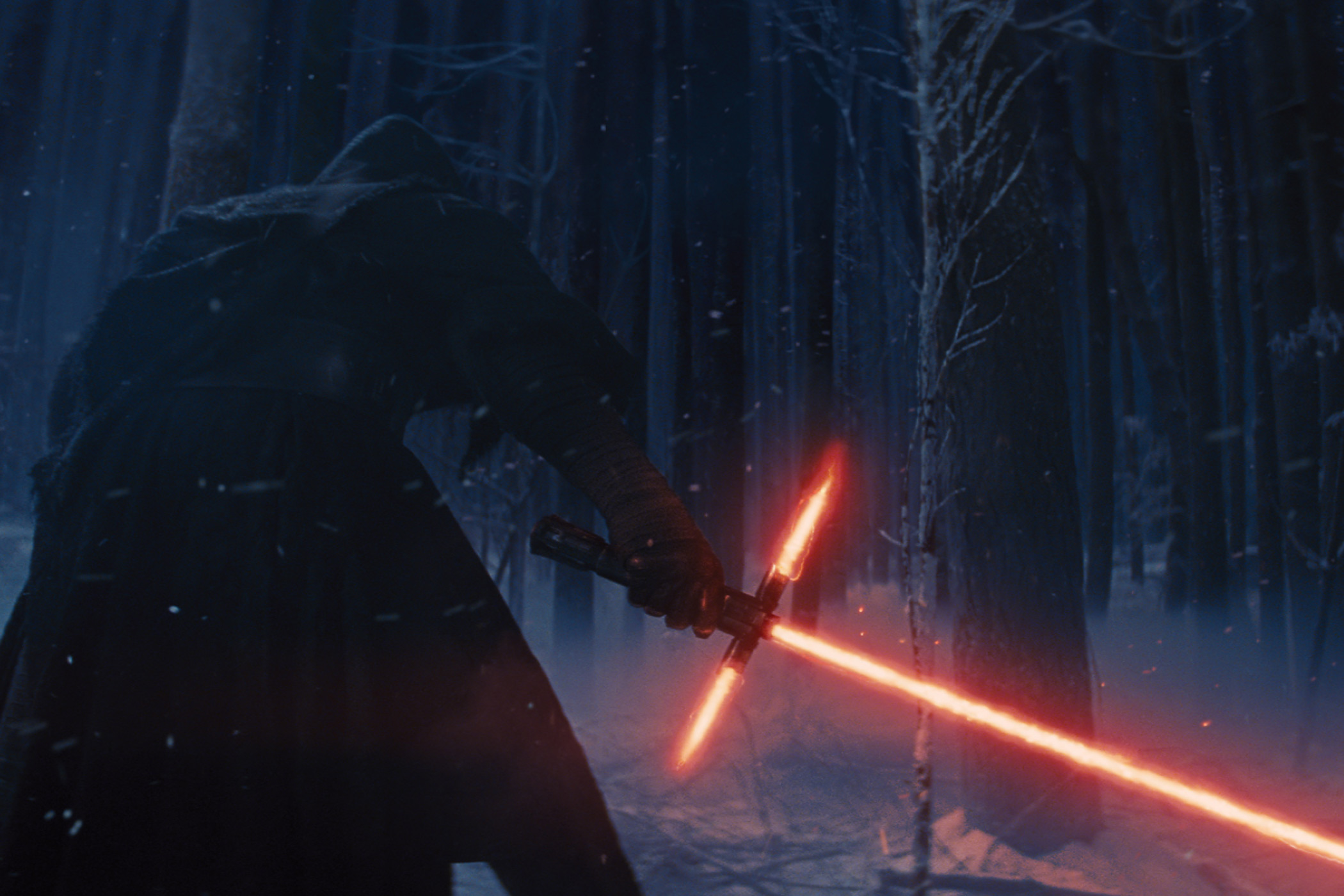 Adam Driver as Kylo Ren in Star Wars: The Force Awakens