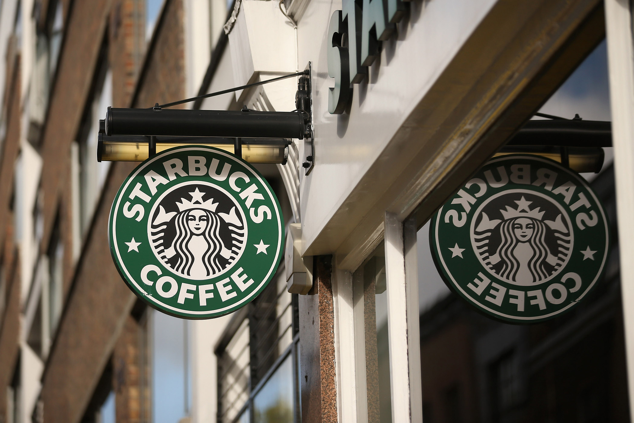 A Starbucks is seen on Oct. 16, 2012 in London, England.
