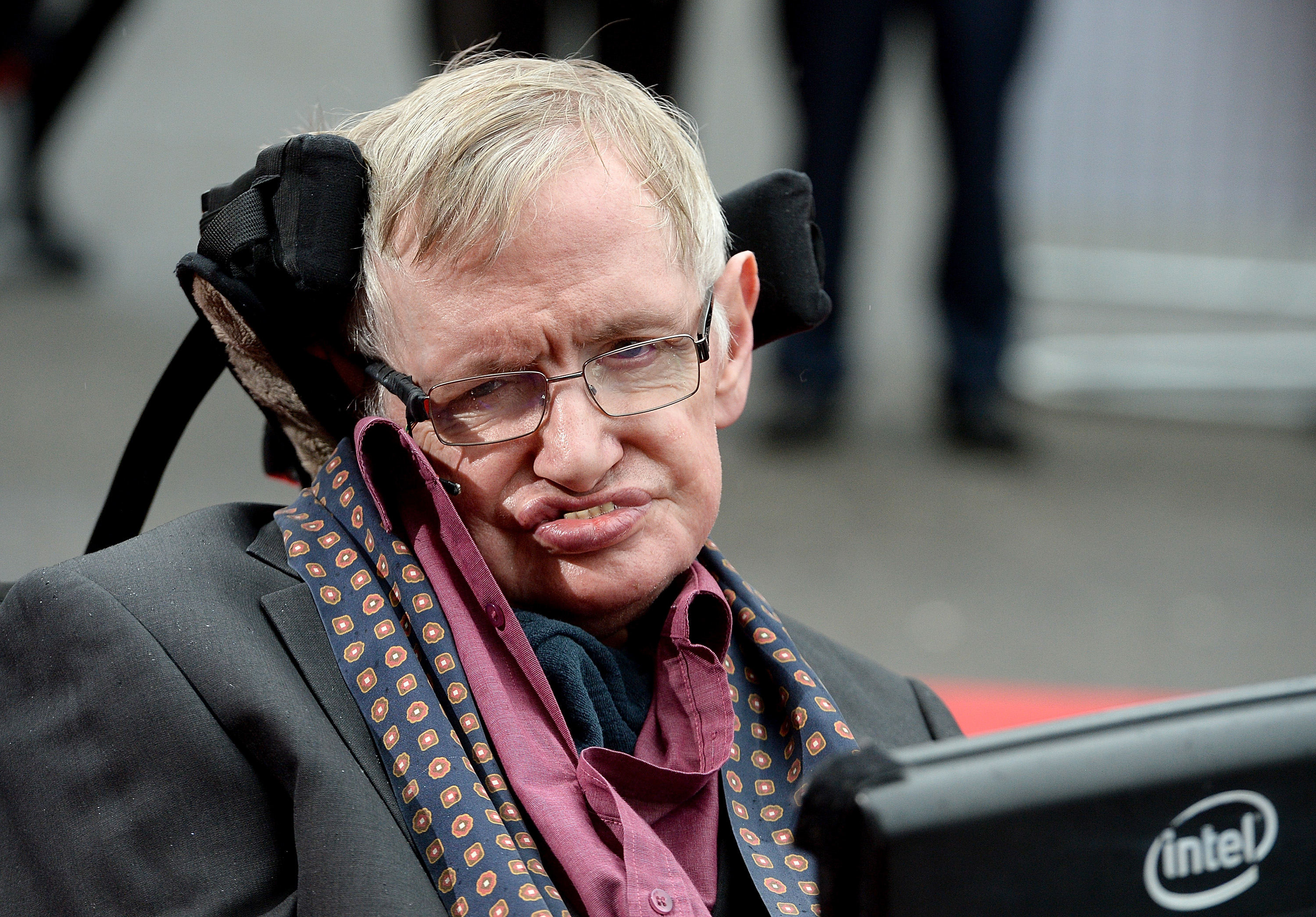 Stephen Hawking  attends  Interstellar Live  at Royal Albert Hall on March 30, 2015 in London, England.