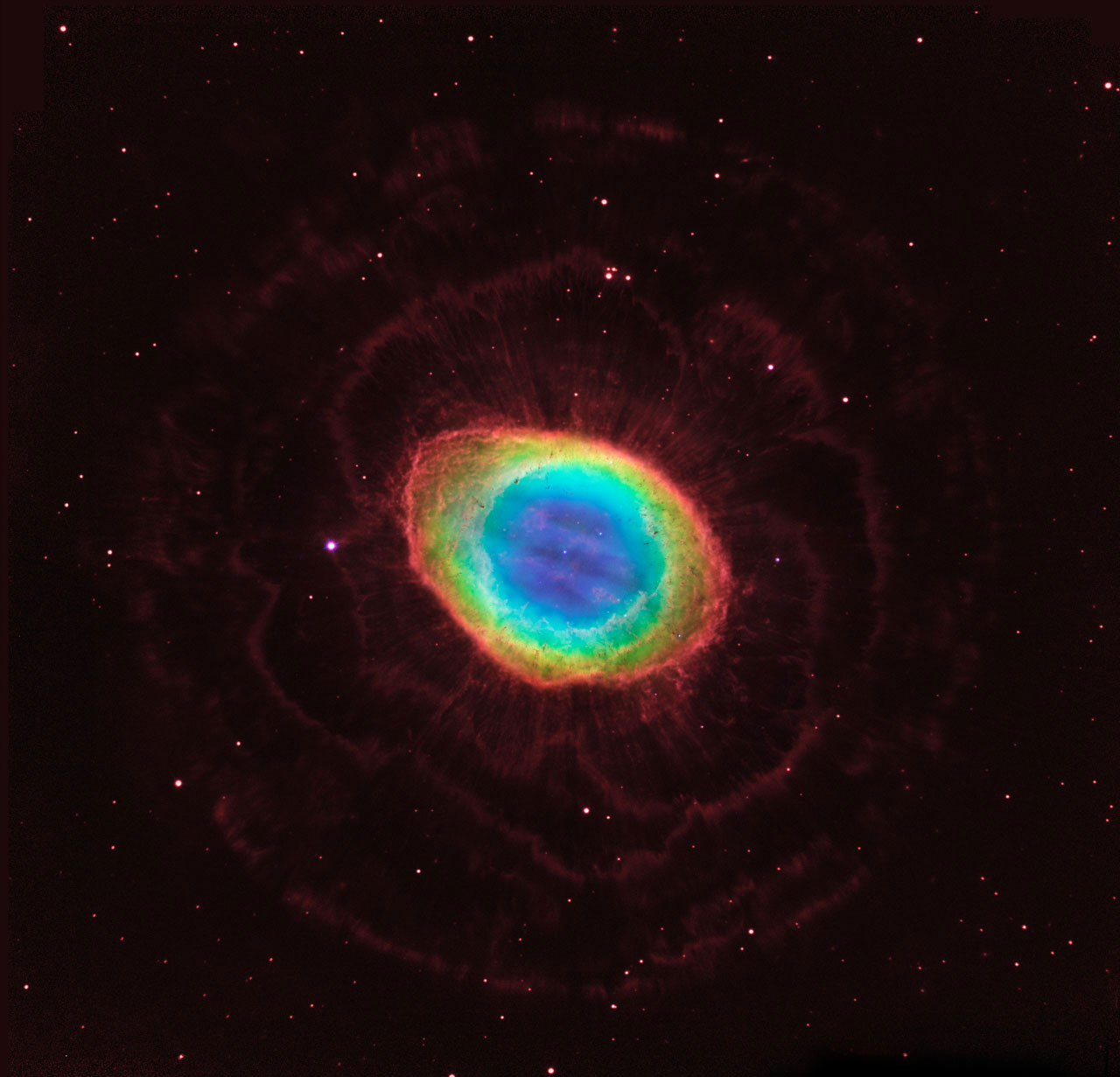 <strong>The Ring Nebula</strong>:                                                                      This image is one of the most detailed observations ever of the Ring Nebula, also known as Messier 57. It reveals intricate structure only hinted at in previous observations, and has allowed scientists to construct a model of the nebula in 3D — showing the true shape of this striking object.                                                                      <i>Image released on May 23, 2013</i>